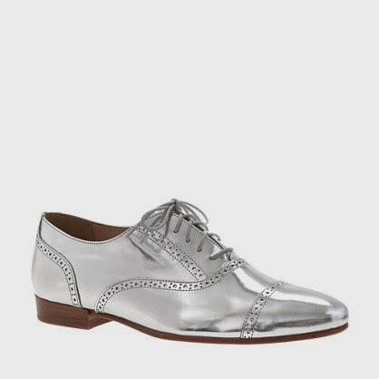 Splurge/Steal: Metallic Silver Oxfords
