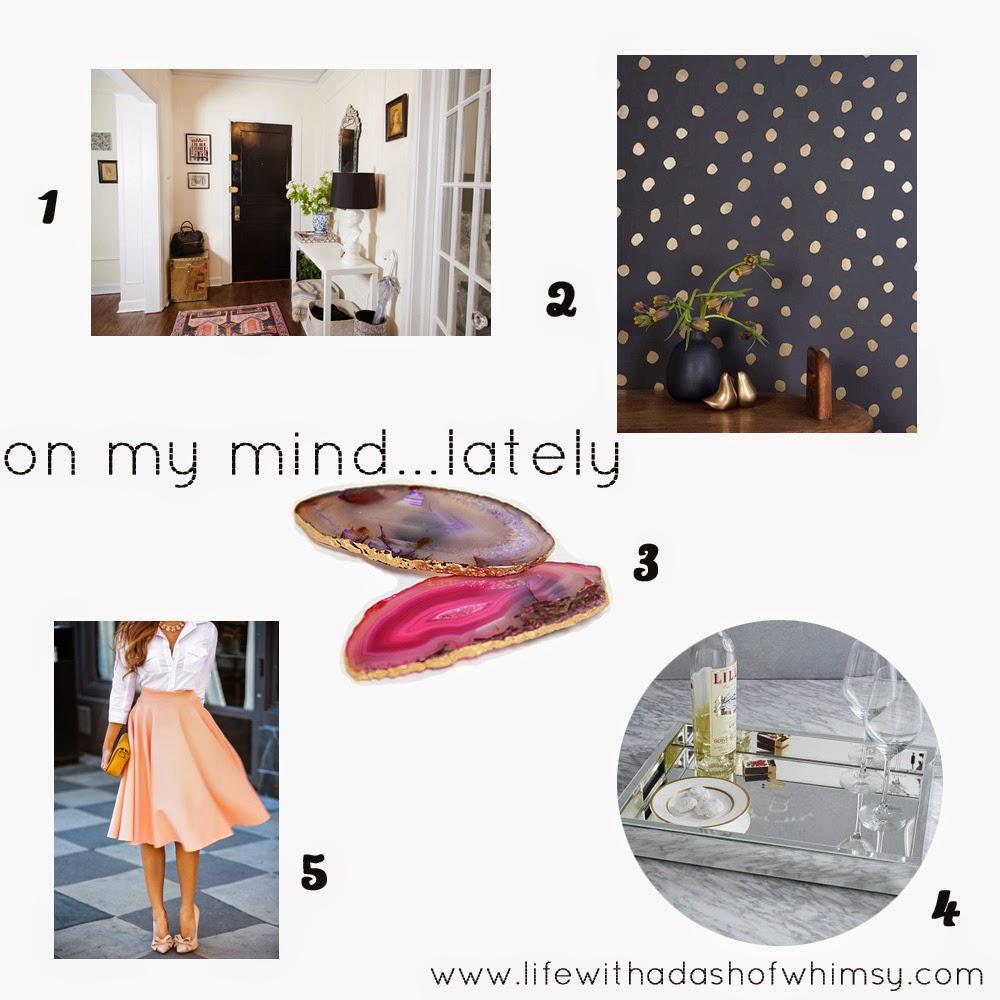On My Mind…Lately