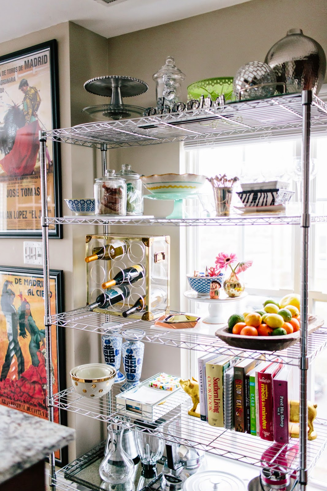Styling Wire Shelves In The Kitchen