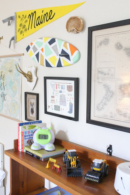 eclectic toddler boy room
