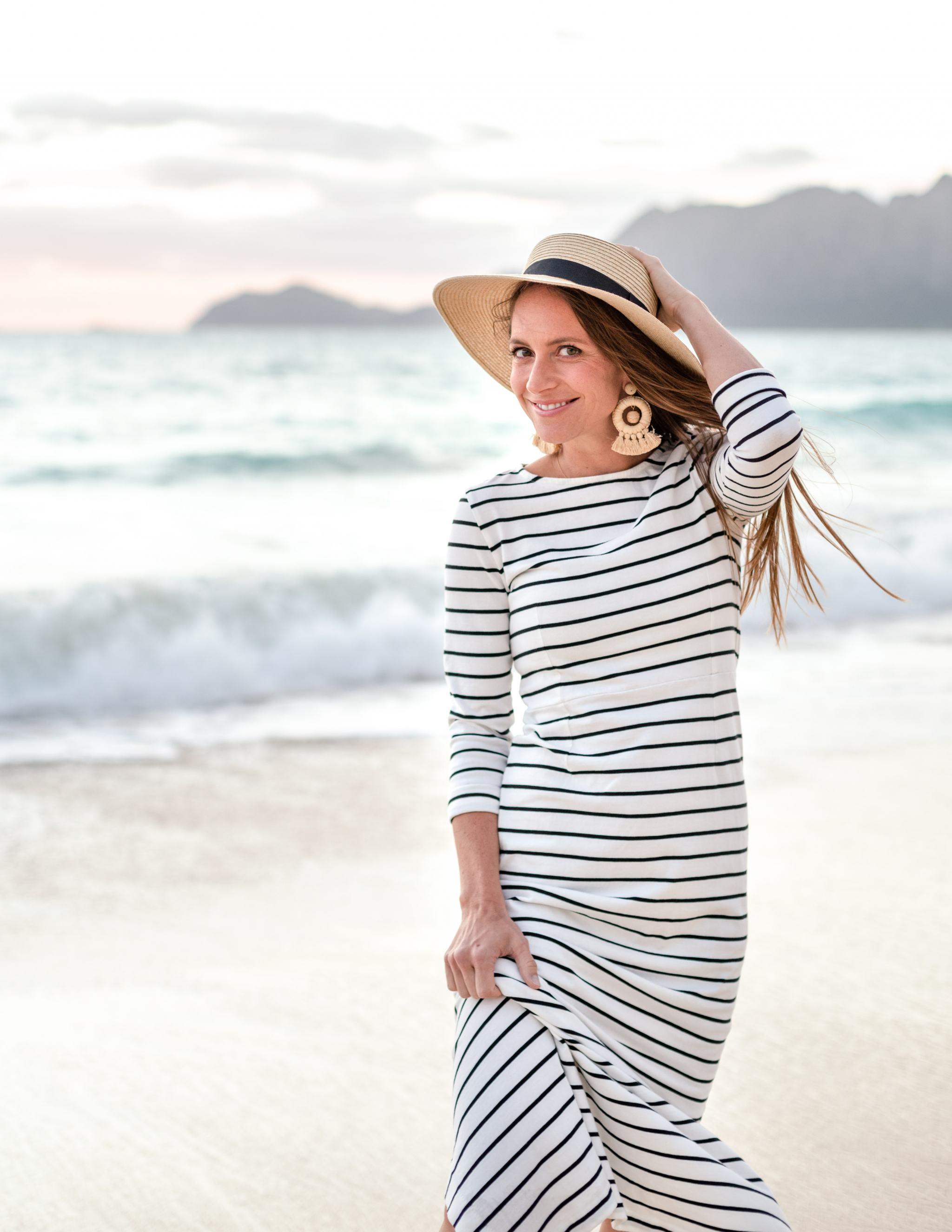 5fddb93f Coast Black And White Striped Maxi Dress – Little Black Dress ...