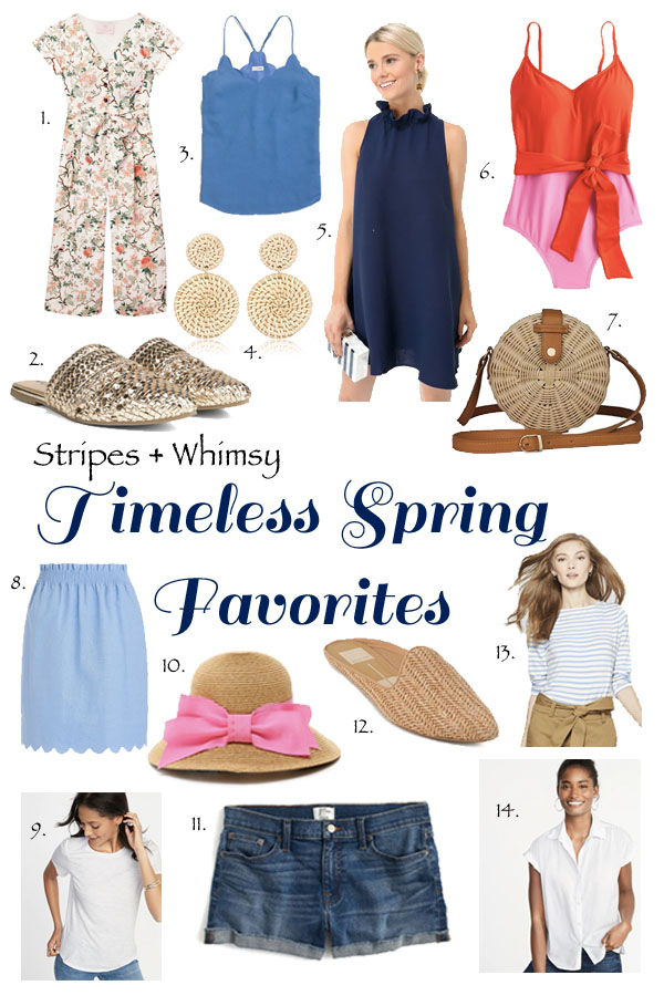 spring fashion favorites - spring capsule wardrobe - spring wardrobe essentials - spring wardrobe staples - spring clothing must haves - spring style - classic style - preppy style - warm weather essentials - spring break packing list