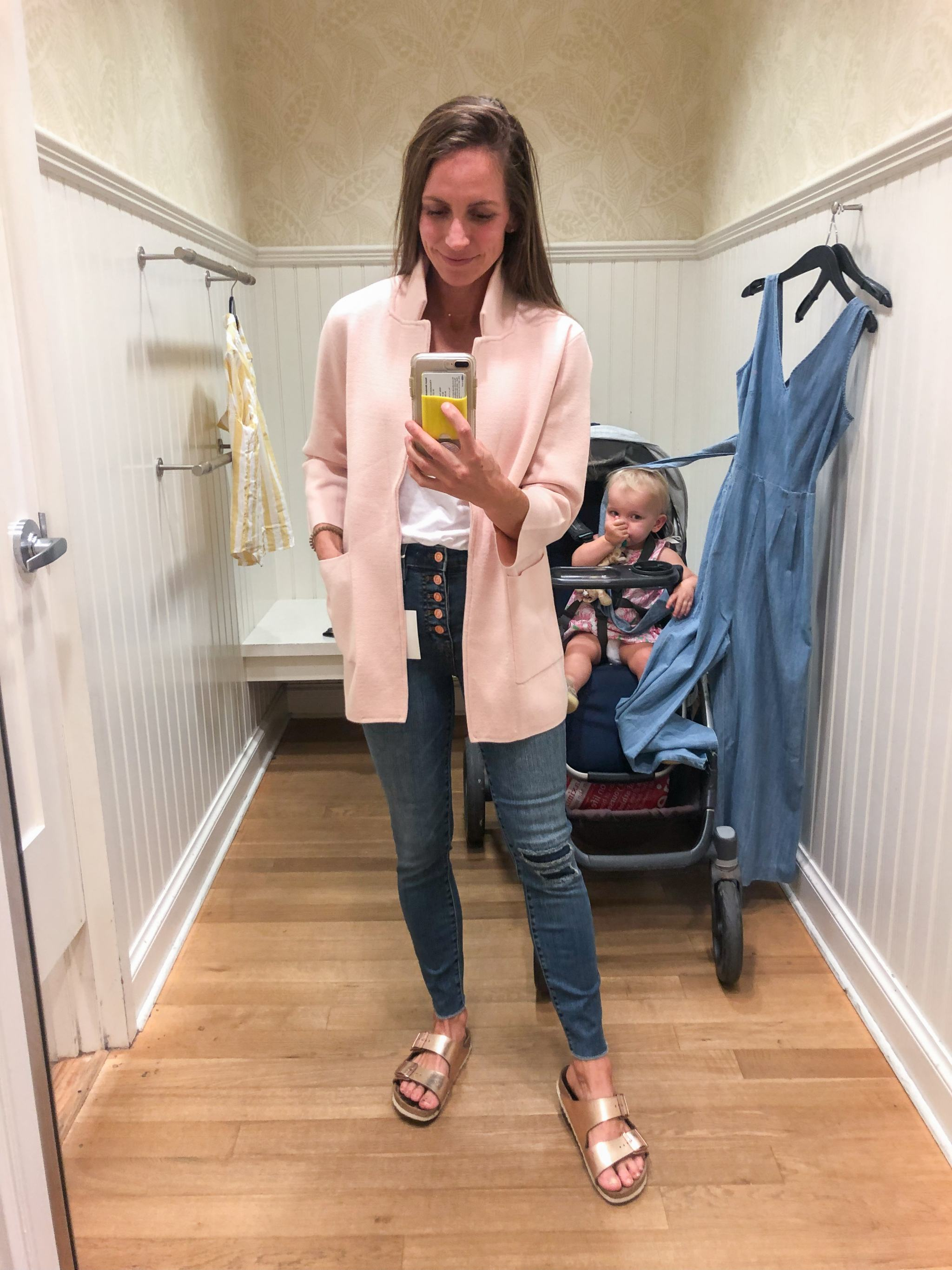j.crew sweater blazer - blush sweater blazer - pink sweater blazer - j.crew spring clothing