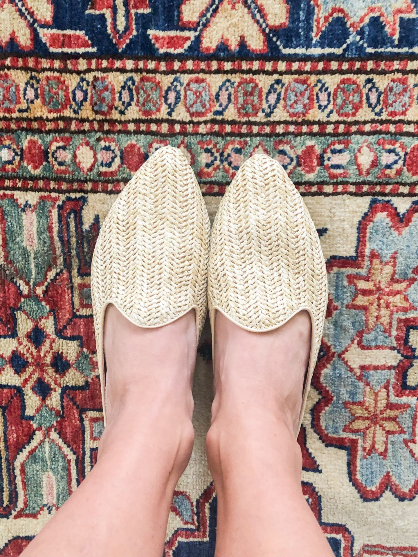 rattan mules - woven mules - woven loafers - natural fiber shoes - spring shoes - rattan loafers - universal threads loafers