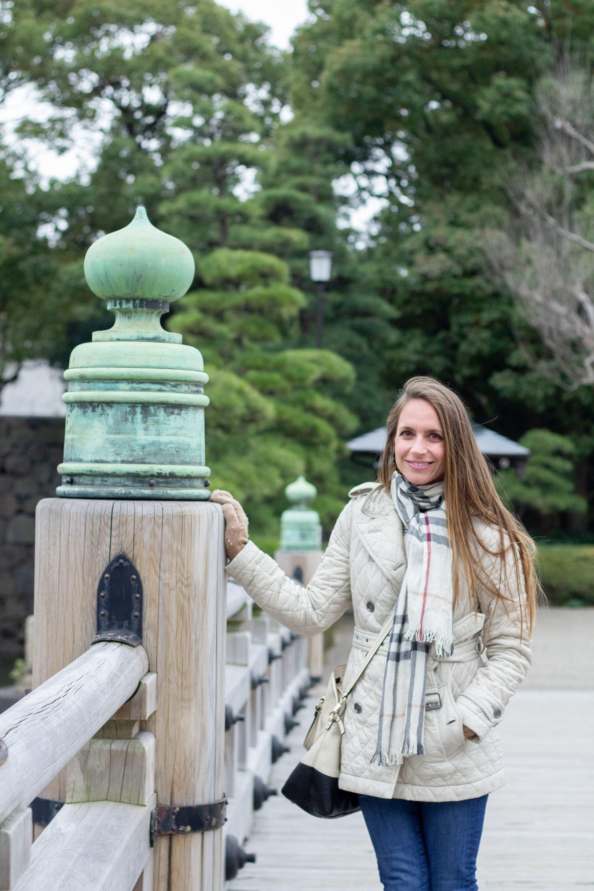 Shinjuku - Tokyo - traveling in Tokyo - what to see in Japan - pink sweater blazer - sightseeing in Japan - sightseeing in Tokyo - Chidoriga Fuchi palace garden