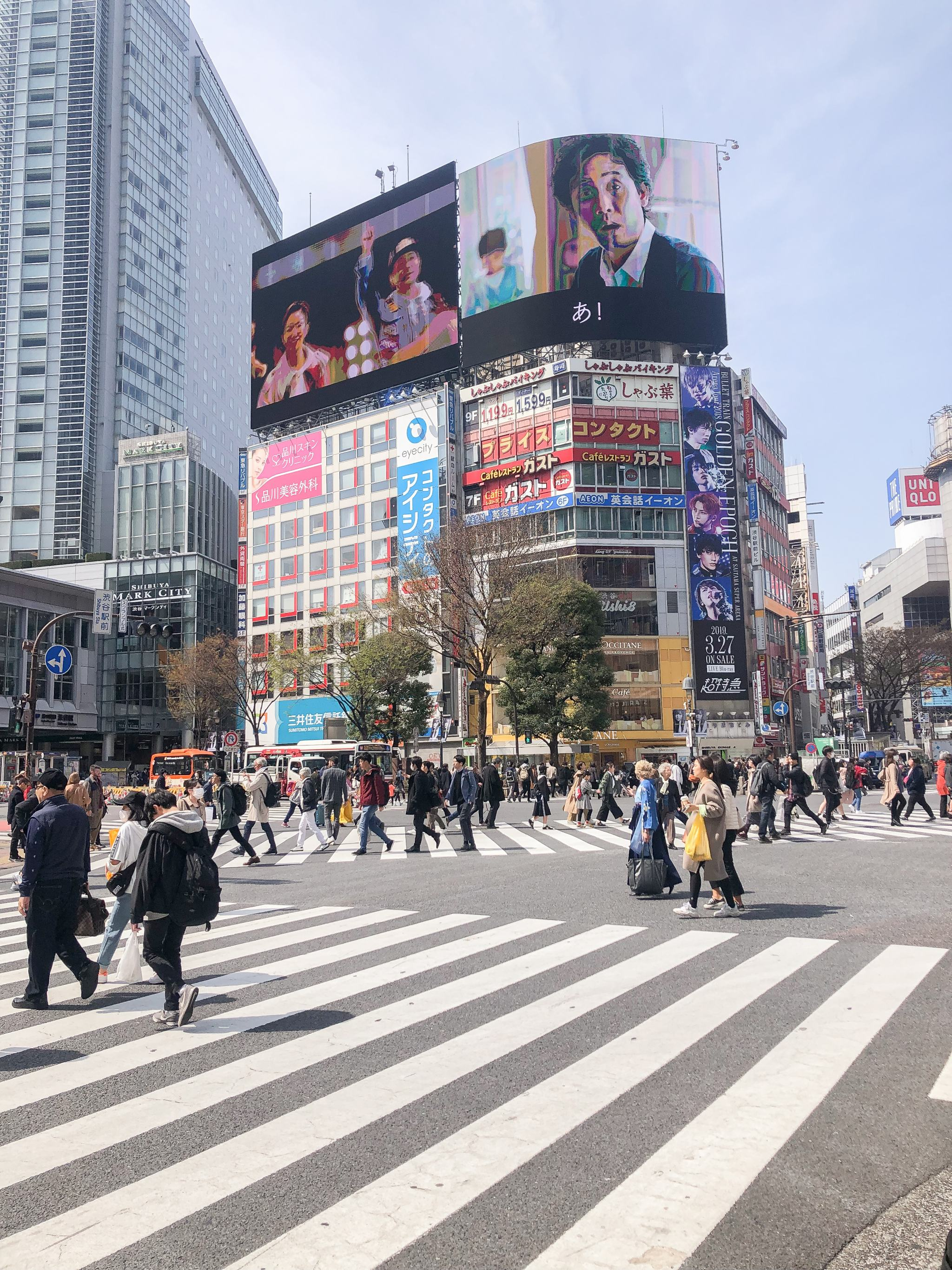 Tokyo - traveling in Tokyo - what to see in Japan - Meguro River Cherry Blossoms - Shibuya Crossing