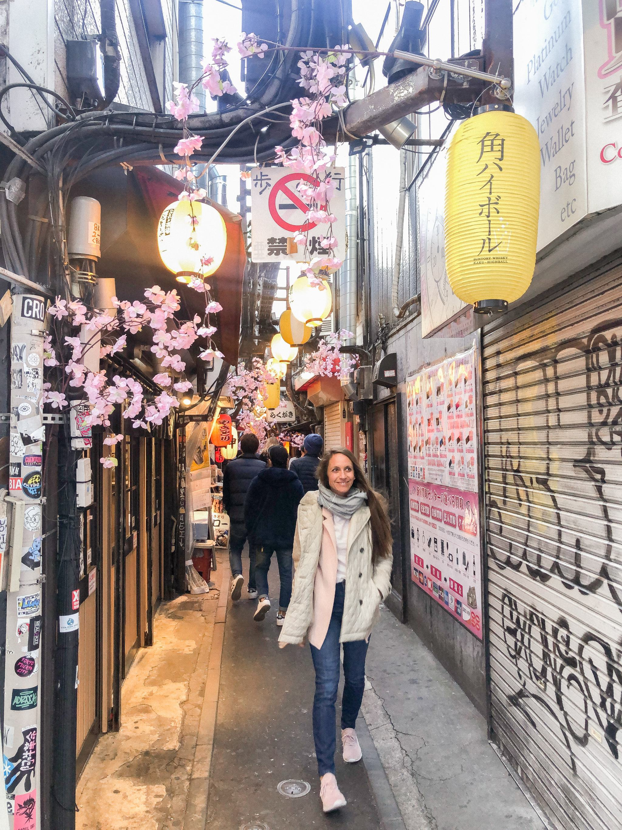 Shinjuku - Tokyo - traveling in Tokyo - what to see in Japan - pink sweater blazer - sightseeing in Japan - sightseeing in Tokyo