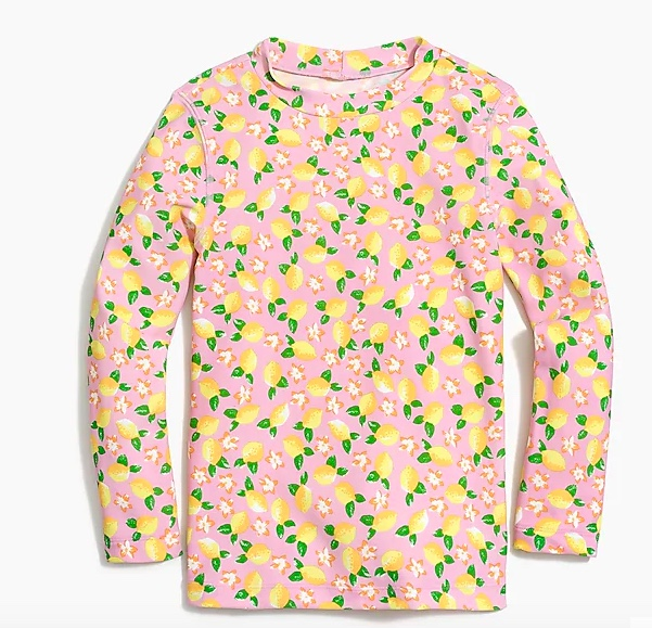 lemon print rash guard - jcrew factory lemon rash guard