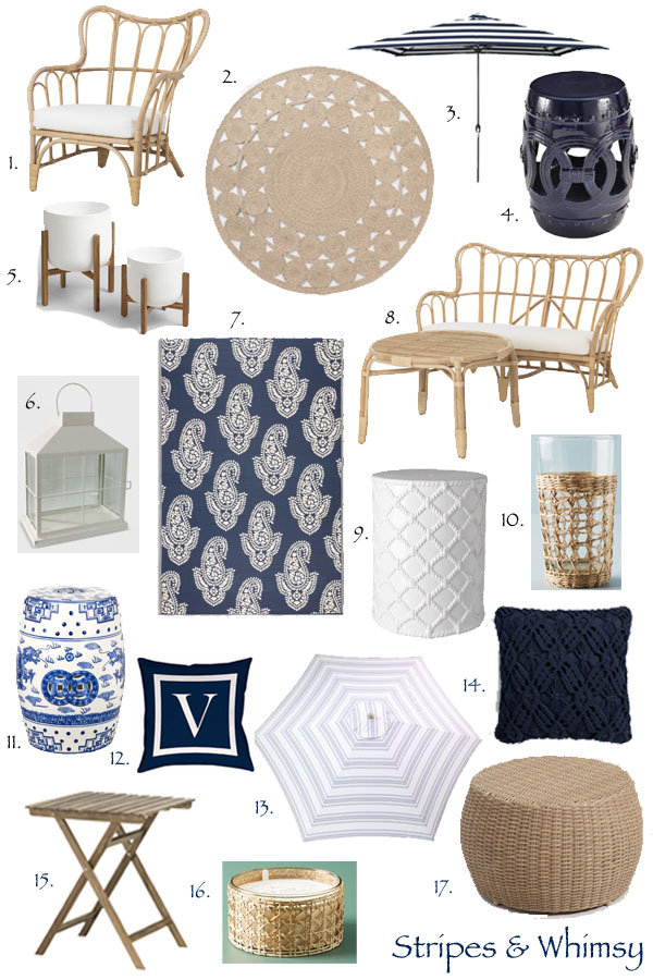 Coastal Inspired Outdoor Spaces: How to Get The Serena and Lily Look for Less