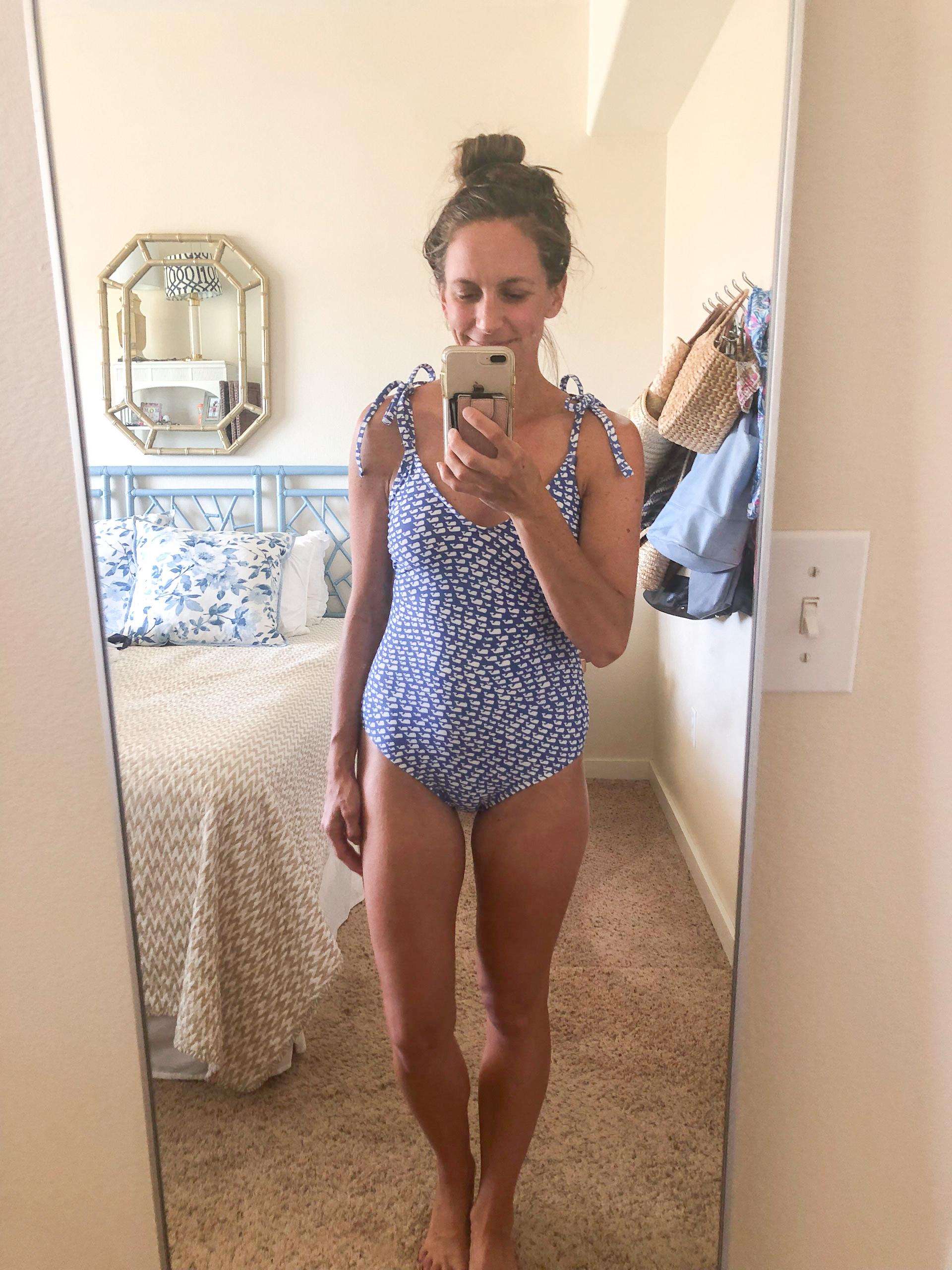vineyard vines - vineyard vines for target whale onepiece swimsuit - blue swimsuit