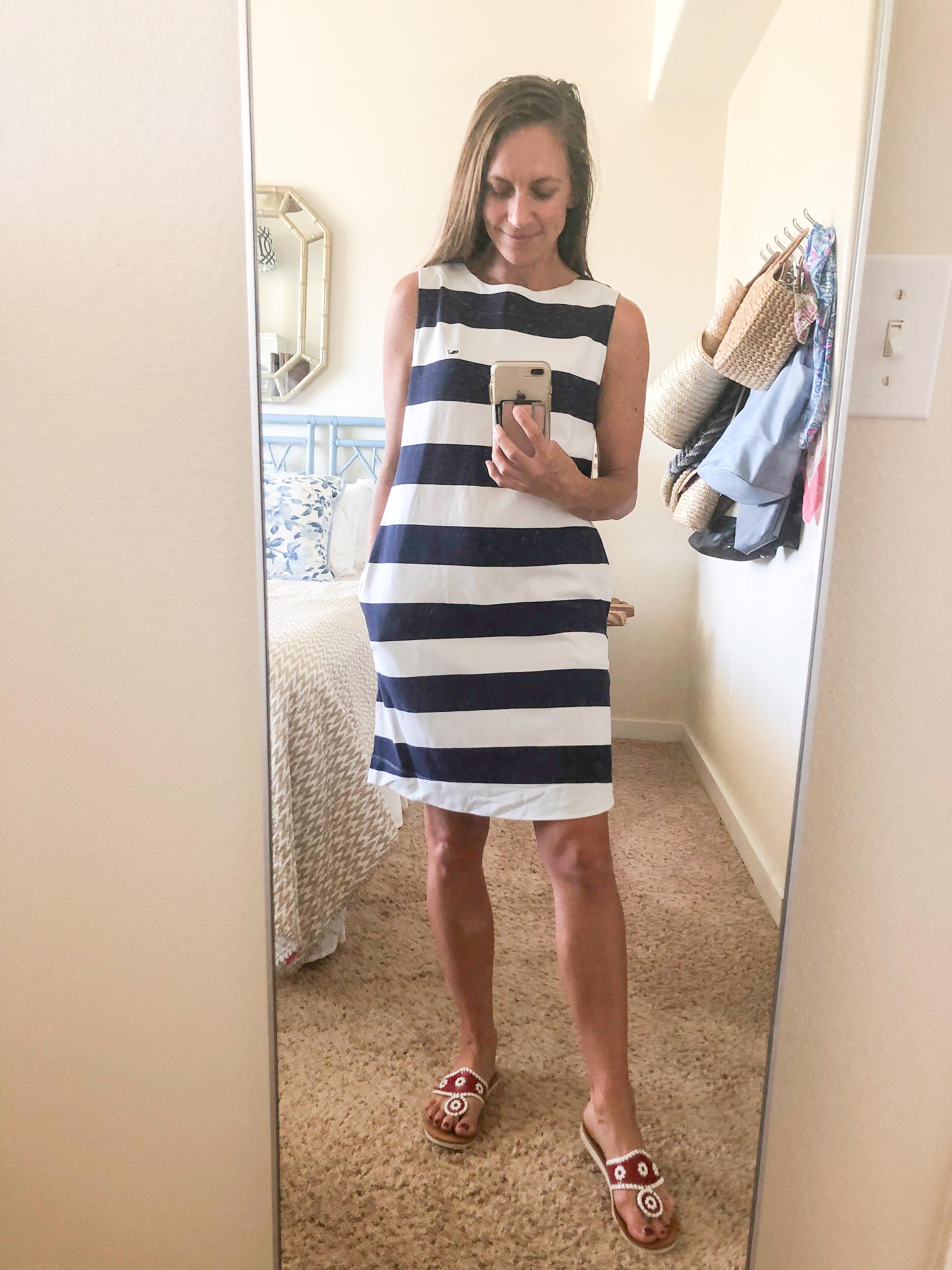 vineyard vines - vineyard vines for target striped dress - sleeveless crewneck dress