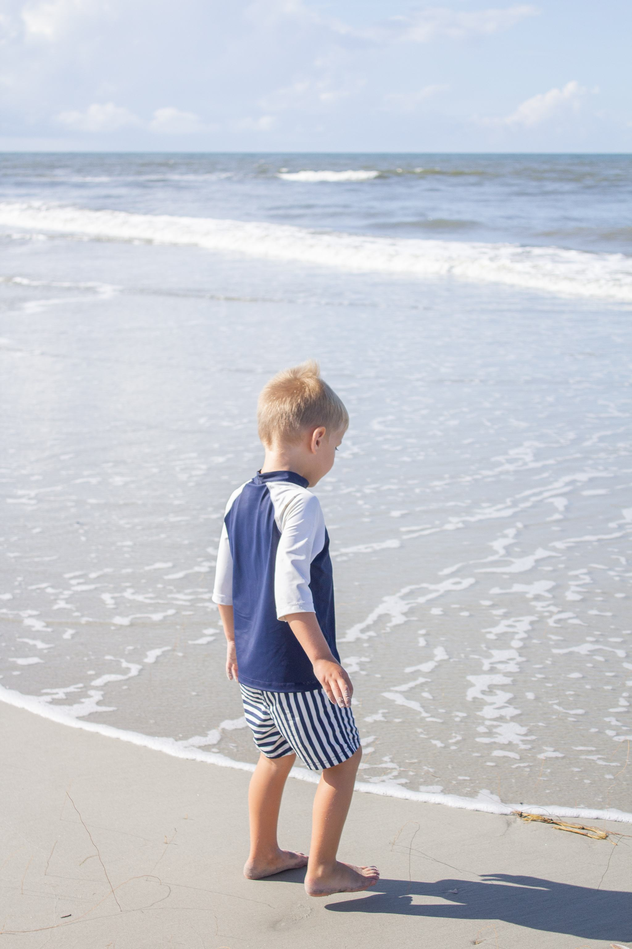 fripp island - south carolina - boating - lowcountry - shell island - toddler outfit inspiration - toddler boy style - toddler girl style