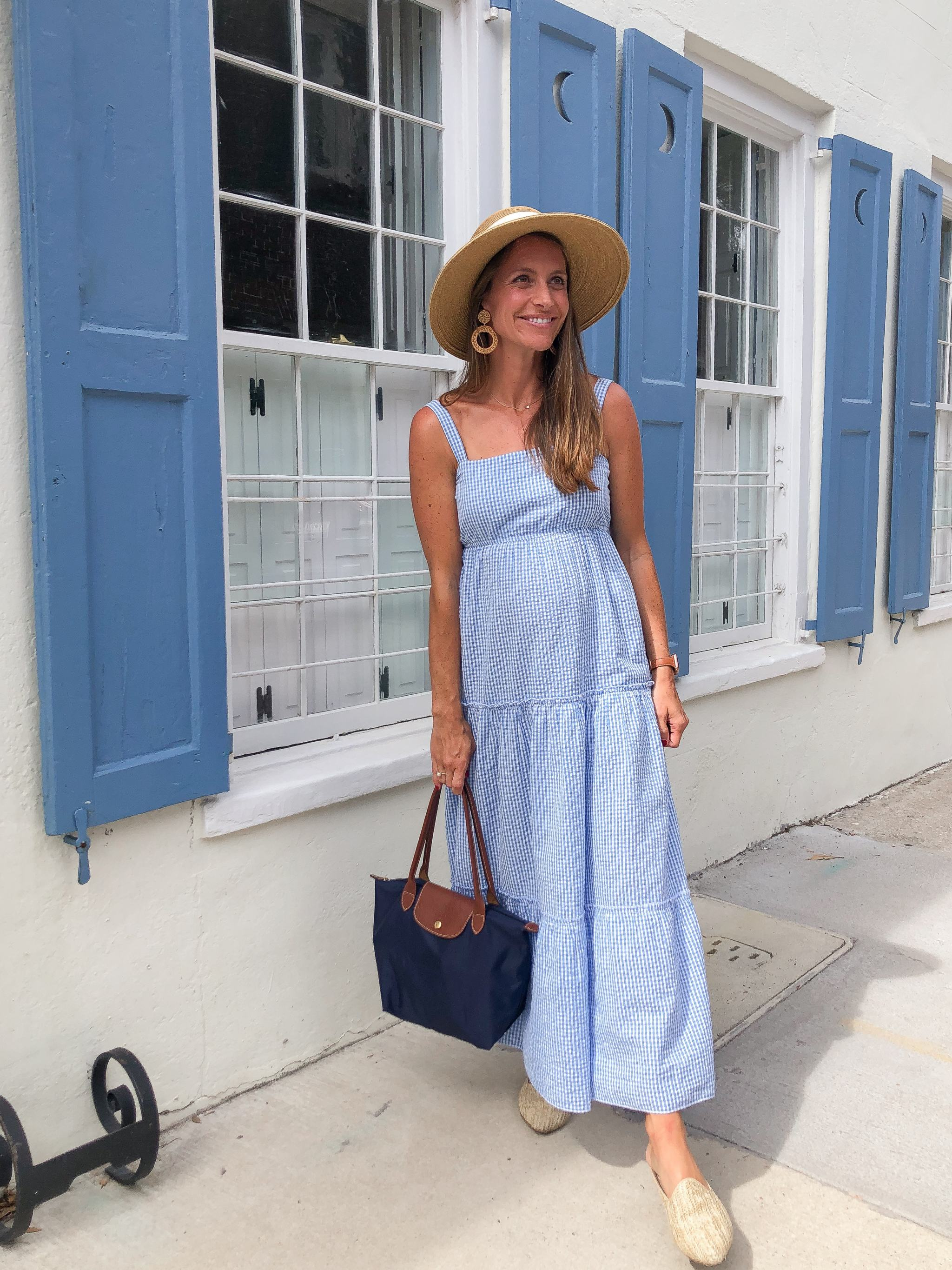 madison mathews maxi dress - tuckernuck packable bow sun hat - things to do in charleston