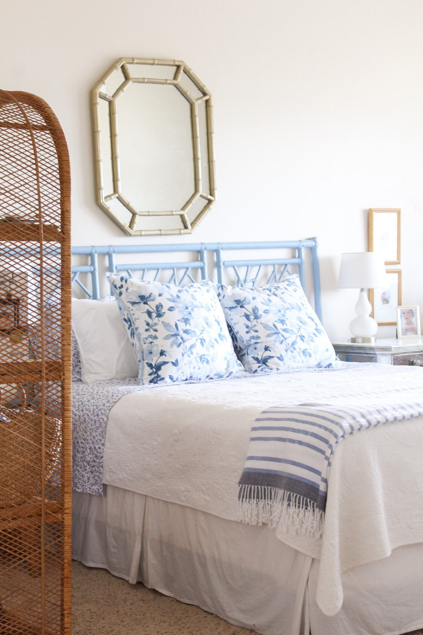 Blue and White Bedroom Update