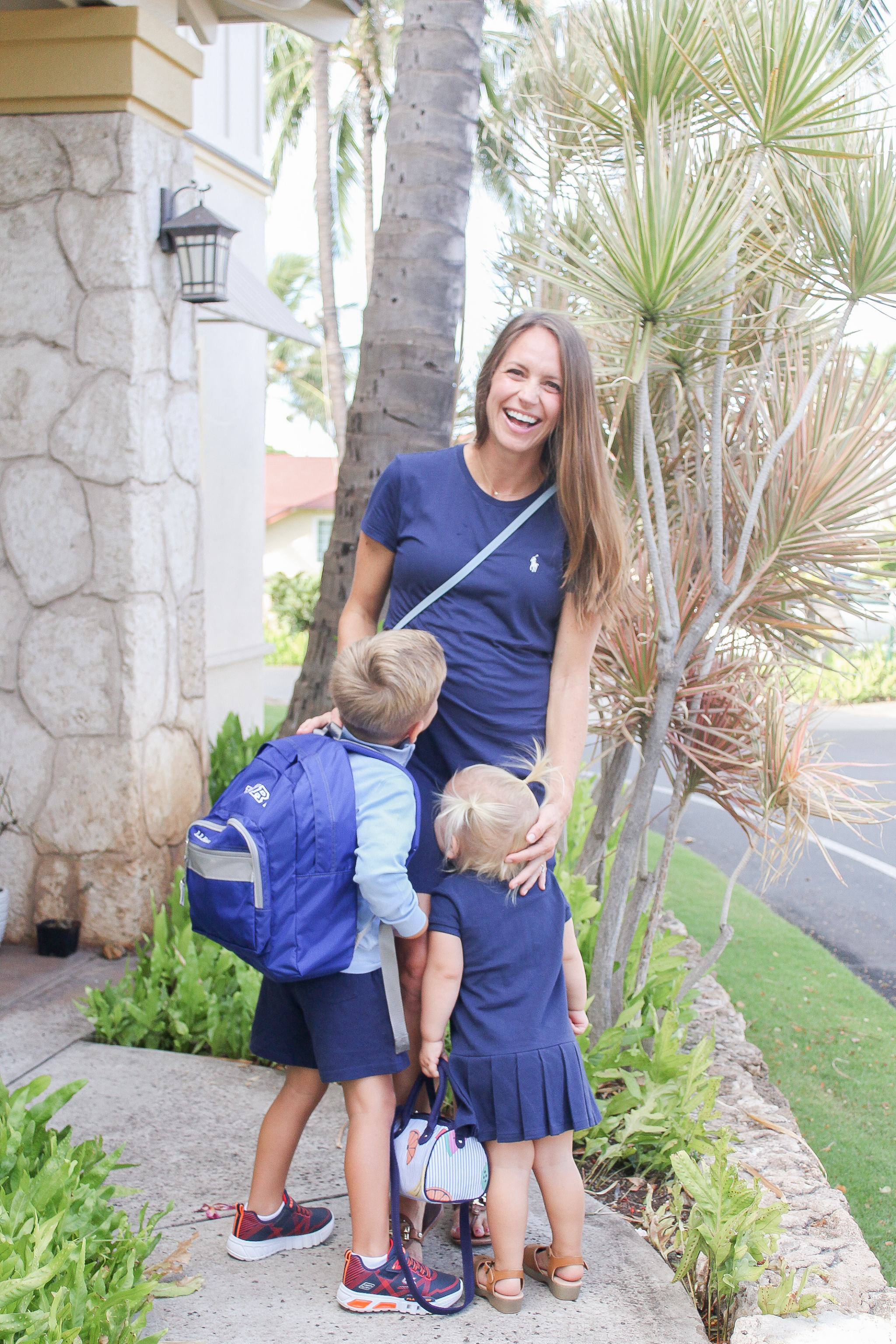 shopping at Waikele Premium Outlets - Simon Center Outlets - outlet mall Hawaii - Oahu outlet mall - back to school shopping Hawaii - outlet mall in hawaii - polo ralph lauren outlet hawaii - back to school style - pregnancy style - maternity style - 20 weeks pregnant - polo dress - toddler style - toddler outfit ideas - sibling outfits