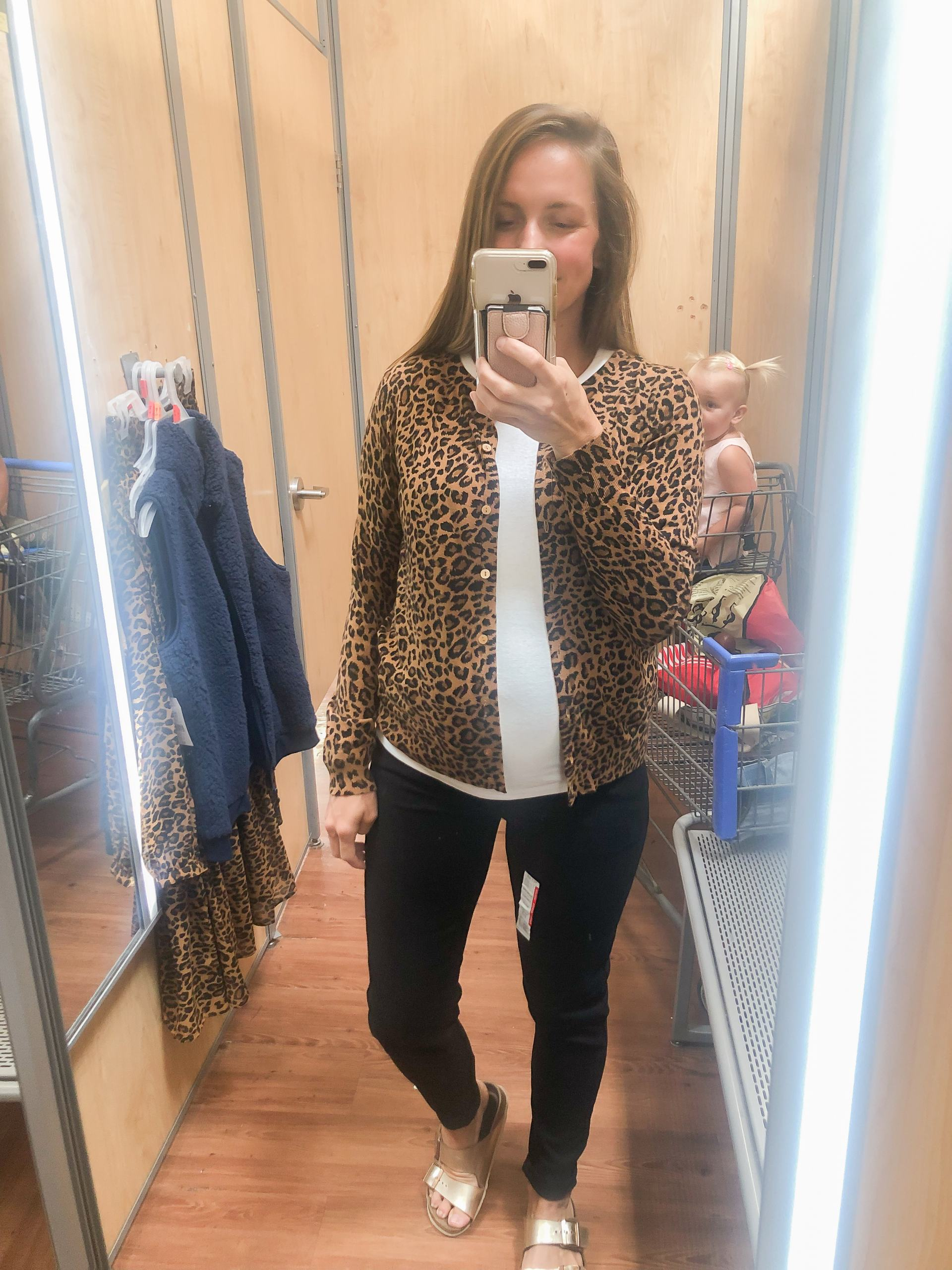 maternity style - affordable fashion - walmart fashion - fall outfit ideas - fall fashion inspo - walmart try on - walmart fall clothing - budget outfits - style on a budget - walmart blogger - leopard cardigan - black maternity jeans