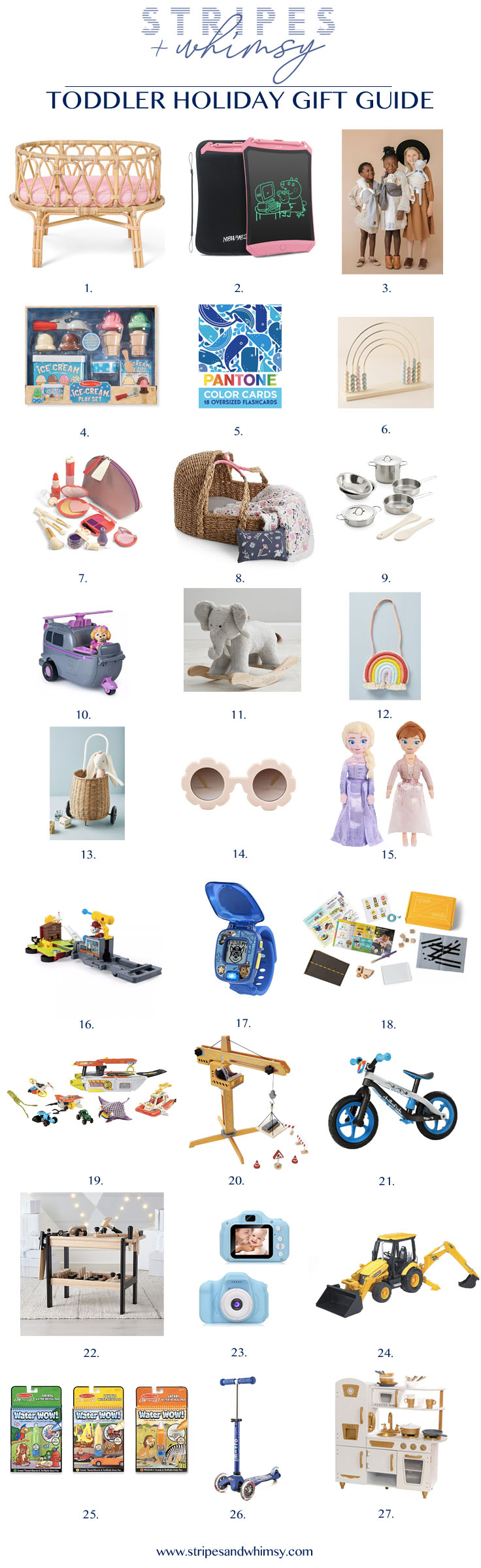 Toddler Holiday Gift Guide Stripes And Whimsy