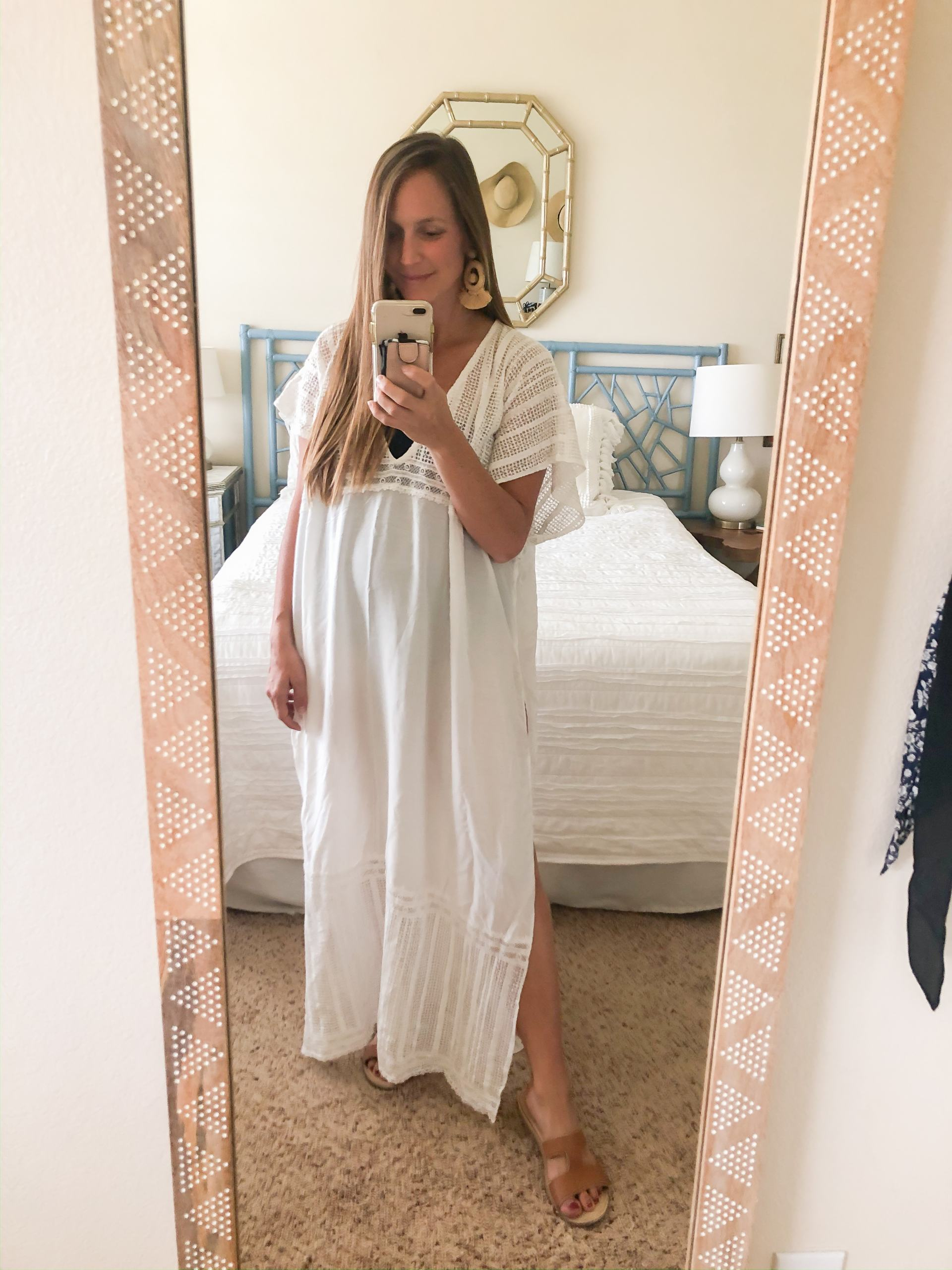 white swim coverup - long white beach coverup - amazon white coverup - white caftan