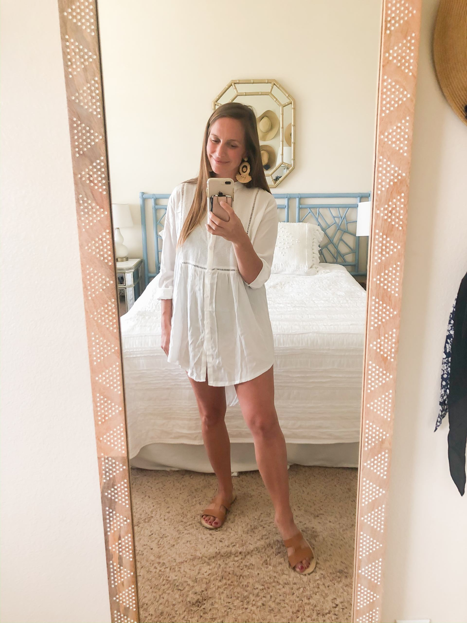beach coverup - swim coverup - amazon swim coverup - button down coverup - button up coverup - white button front coverup - vacation style