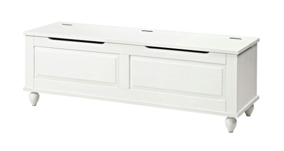 white bench as banquette