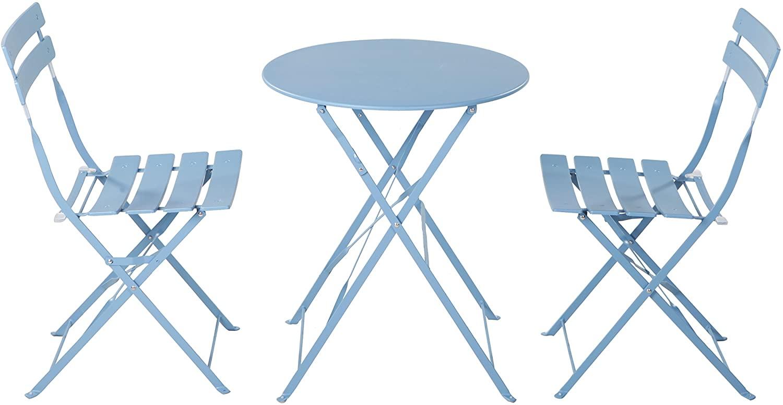 blue bistro table