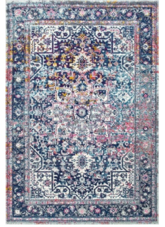 affordable blue and pink oriental rug