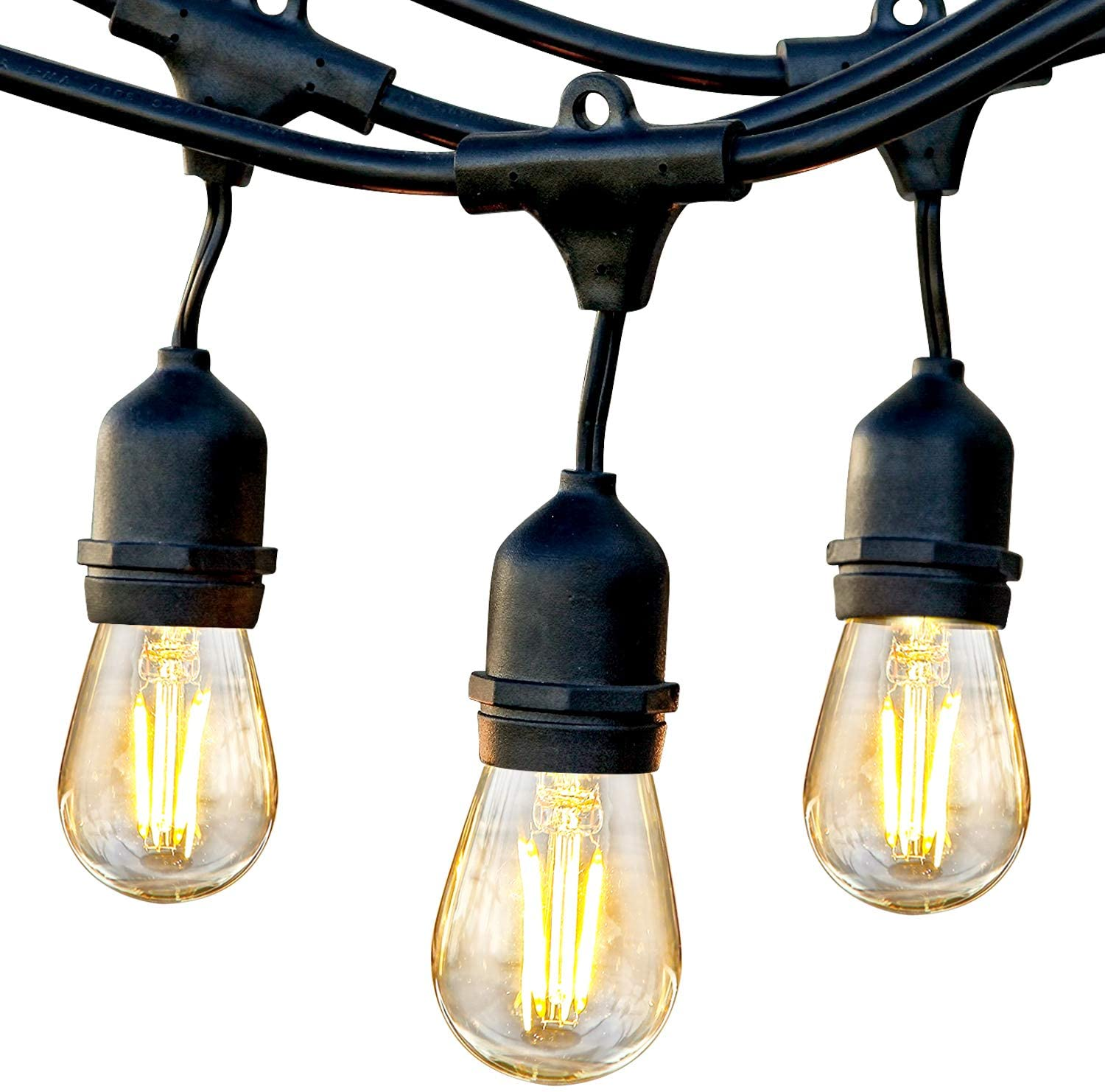 waterproof bistro lights for patio decor