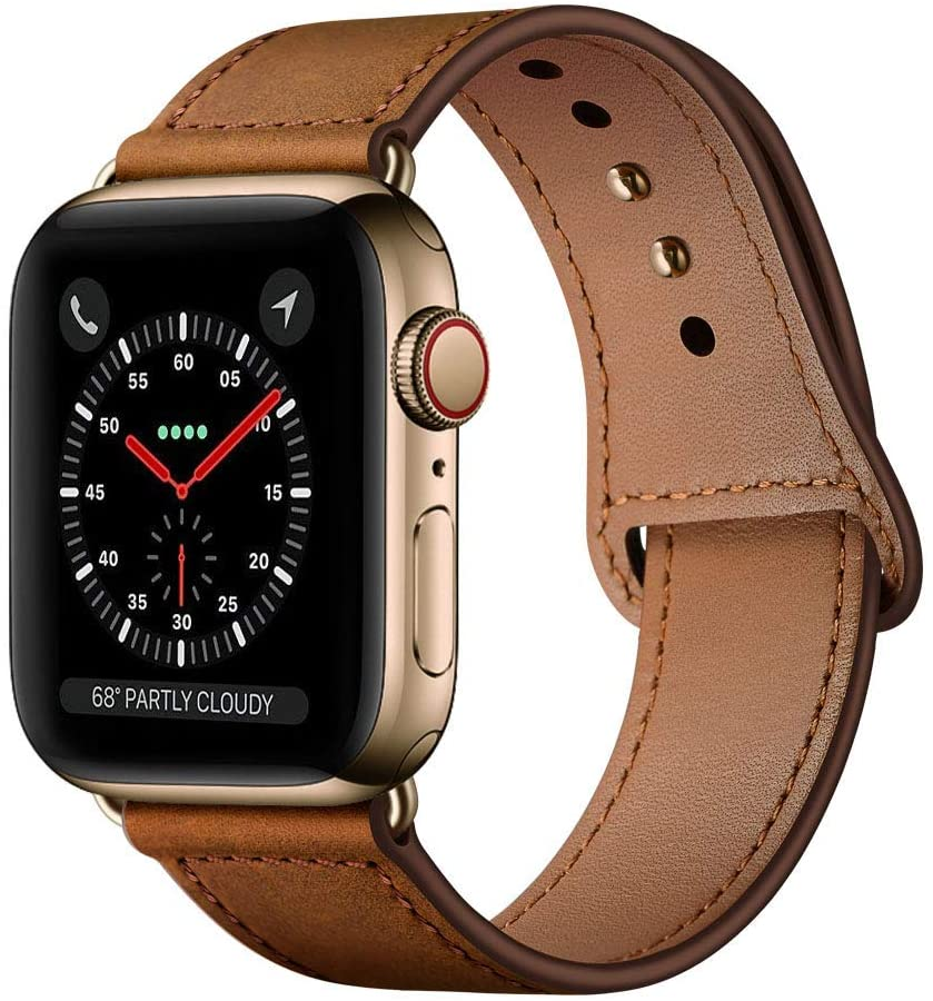 brown leather apple watch band for men