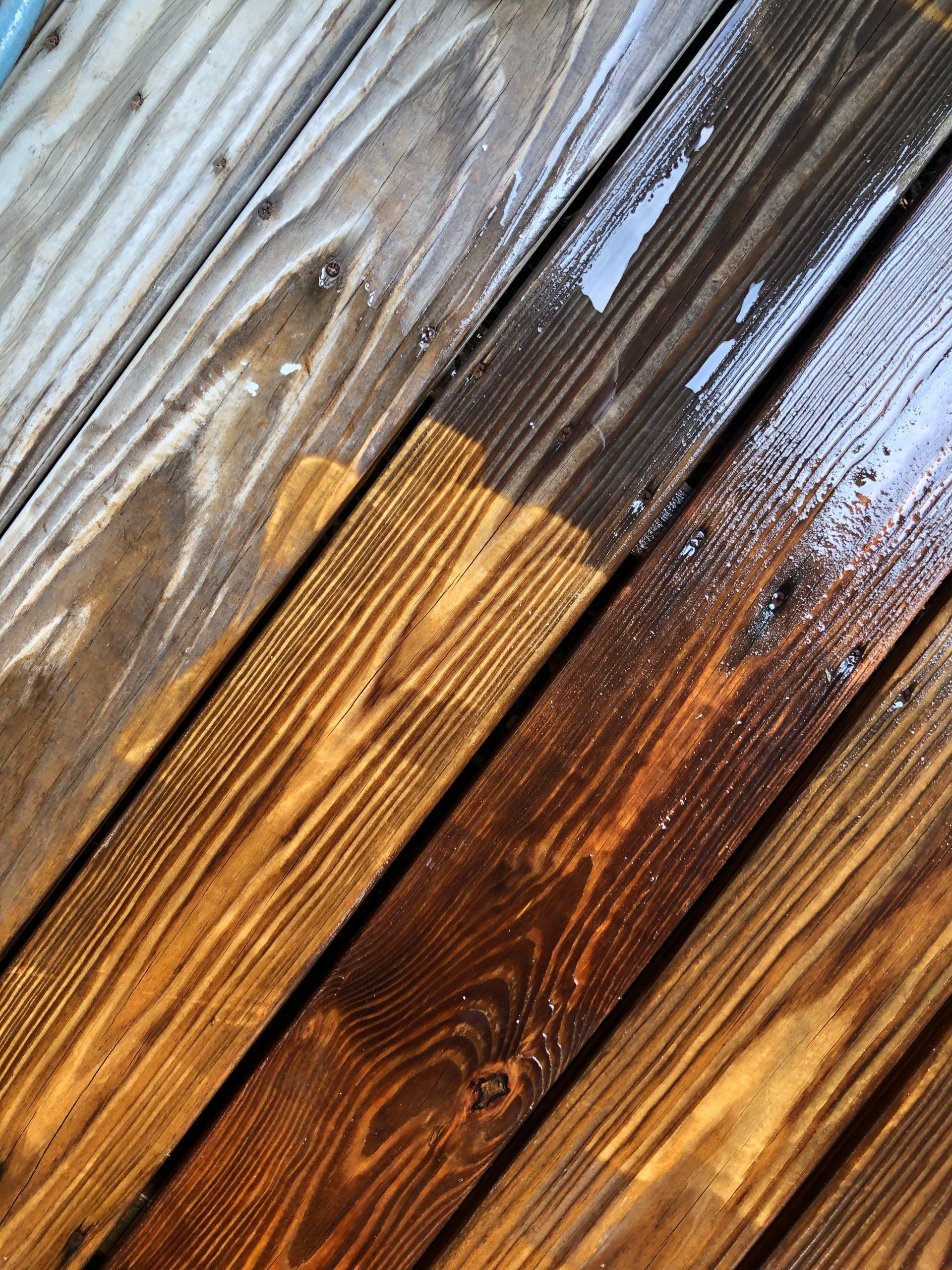 pressure washing wood porch