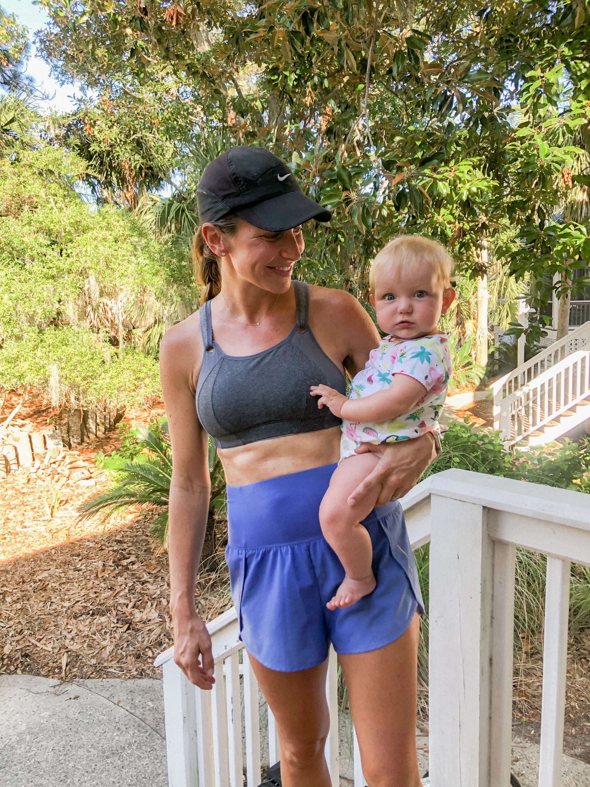 target All in Motion high rise running shorts for postpartum