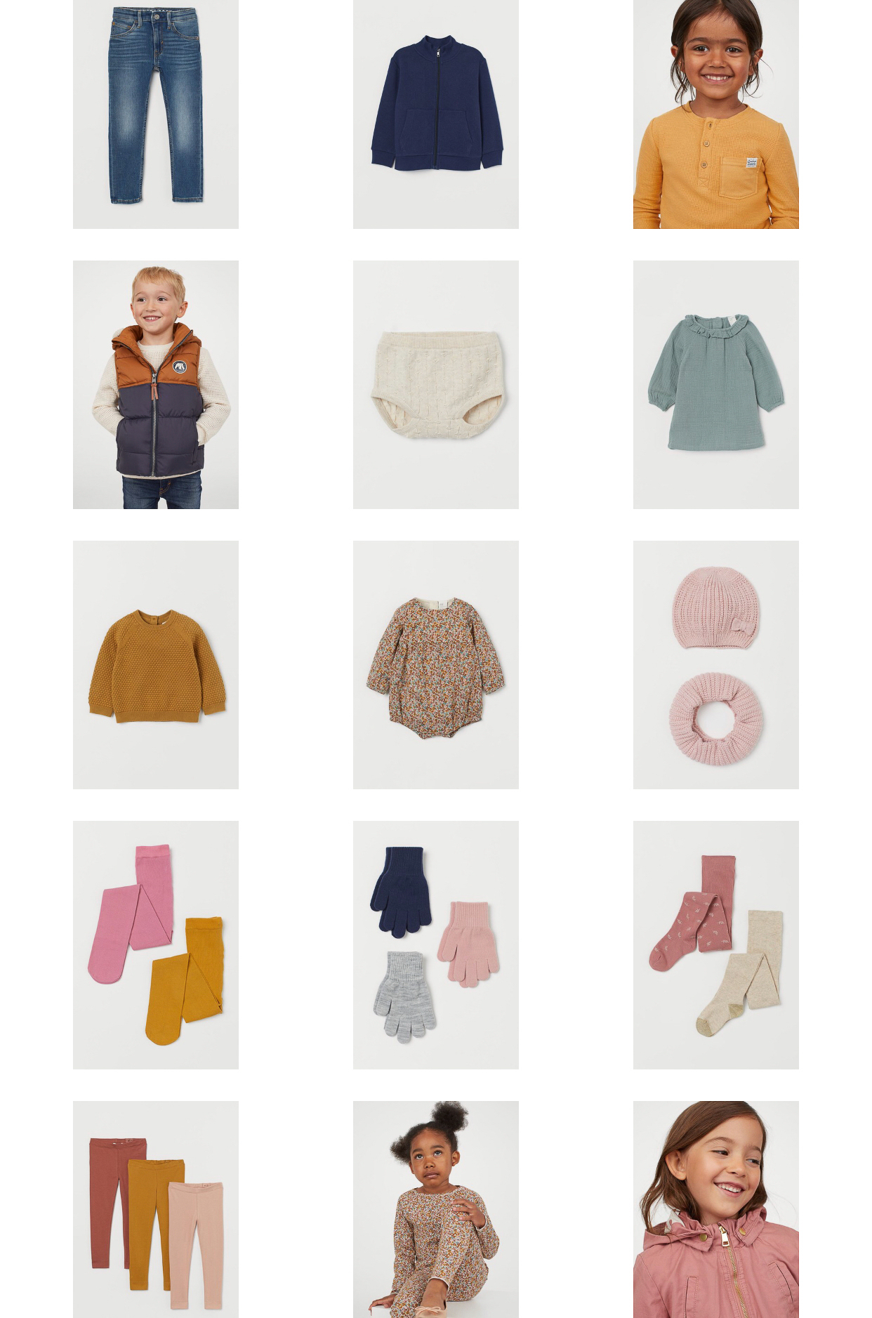 Kids Fall Clothing Picks from H&M