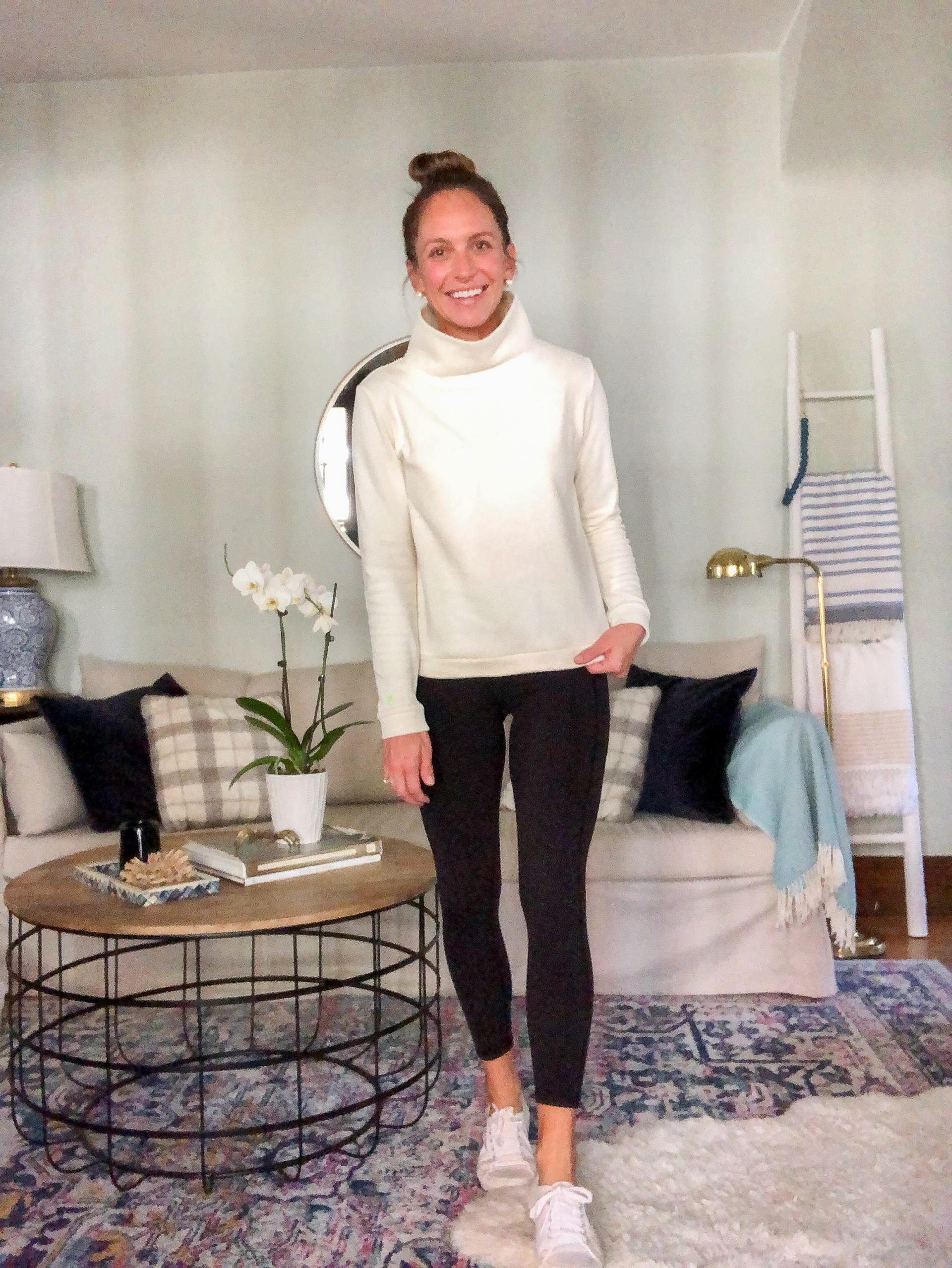 dudley stephens park slope fleece turtleneck with leggings