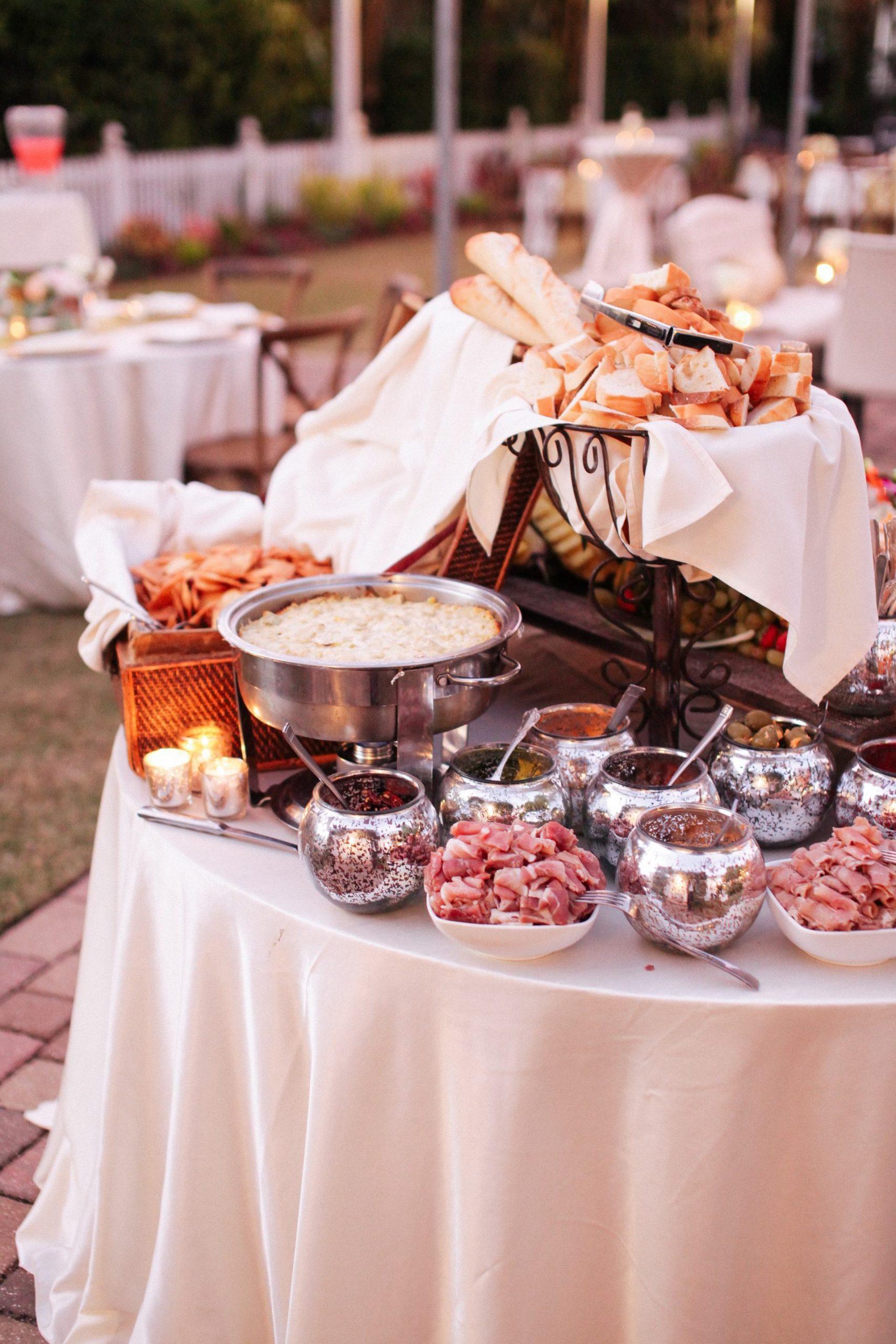 shrimp and grits bar wedding reception