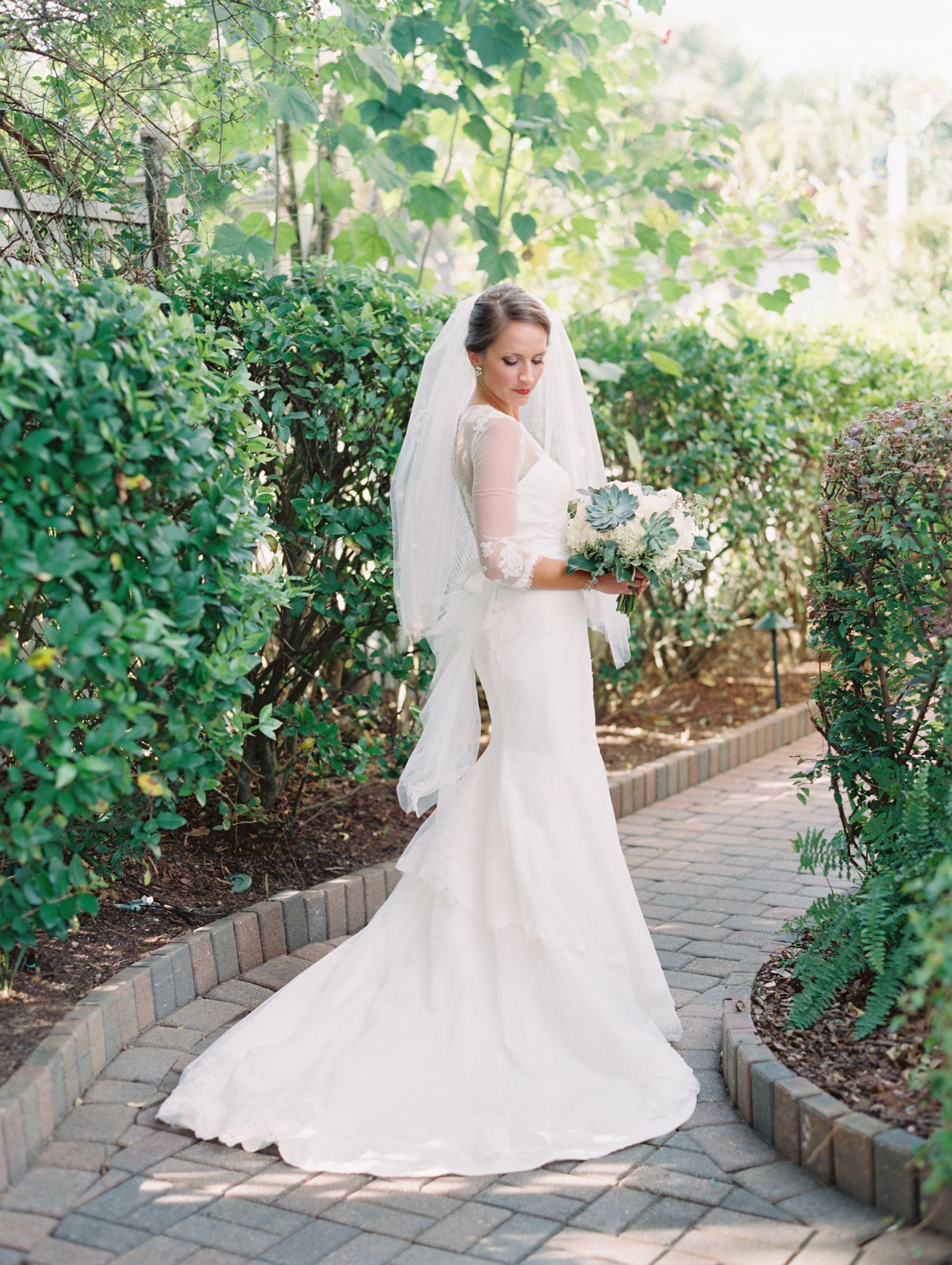 wedding dress with bustle