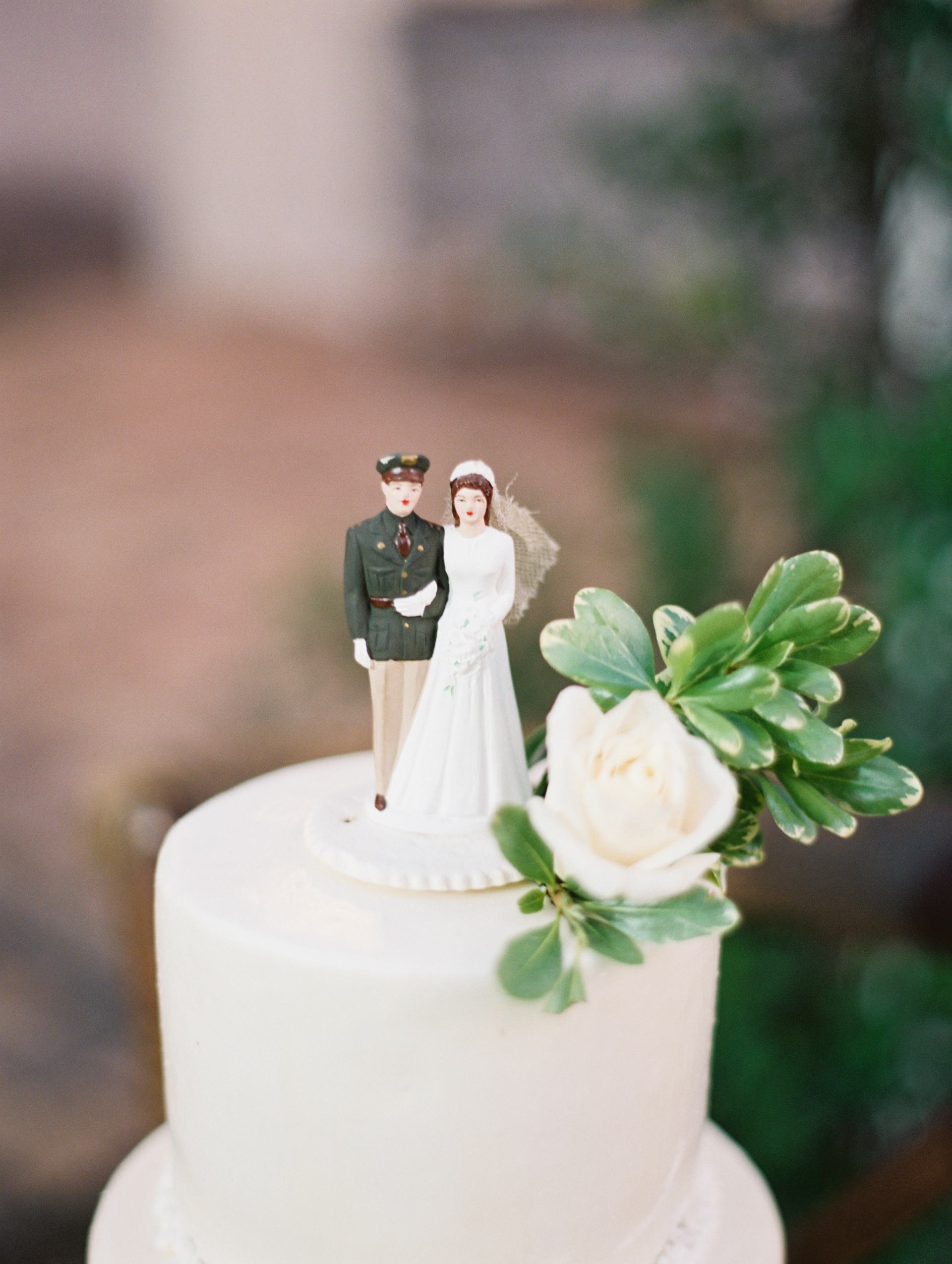 army officer groom and bride