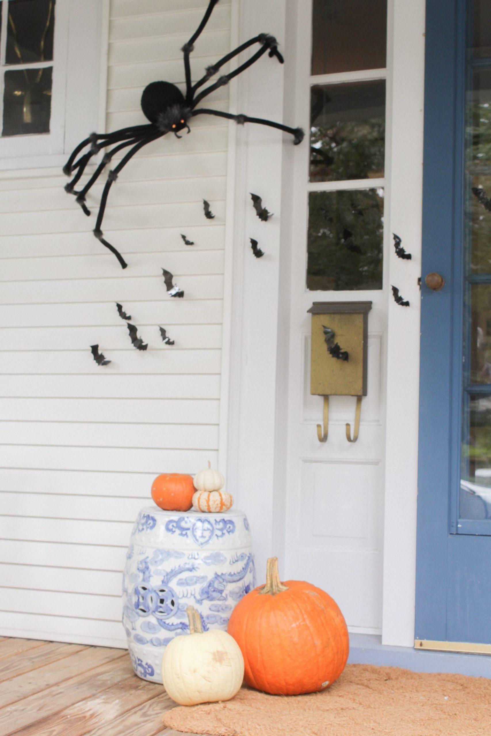 halloween bats on door