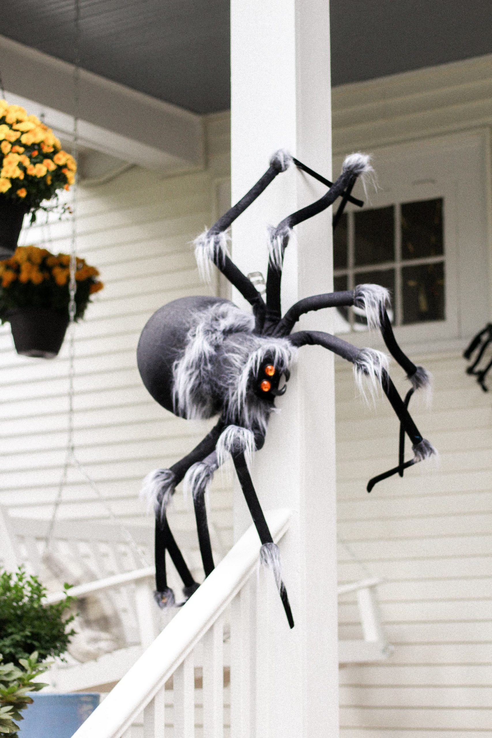 plush spider halloween decorations