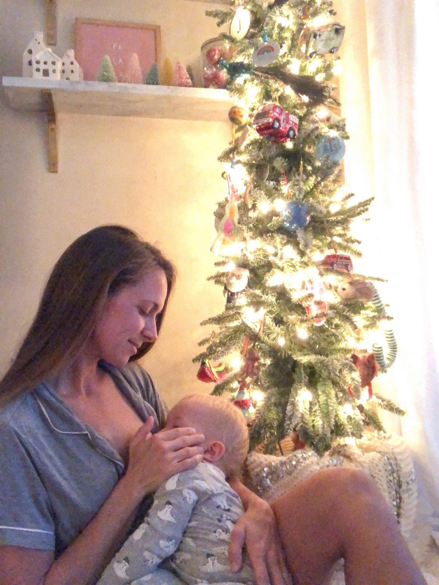 Nursing Friendly Christmas Pajamas