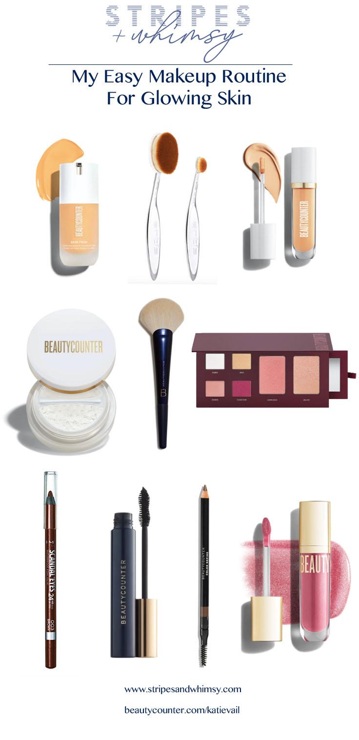 beautycounter glowing makeup routine