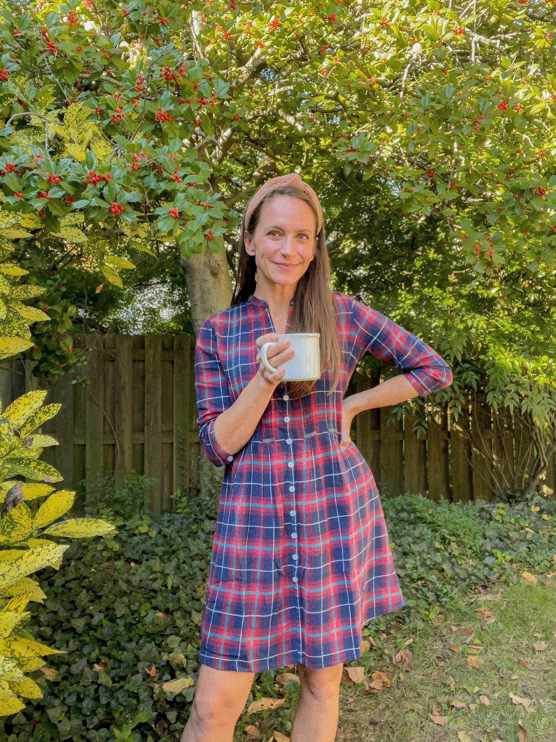 plaid dress for fall