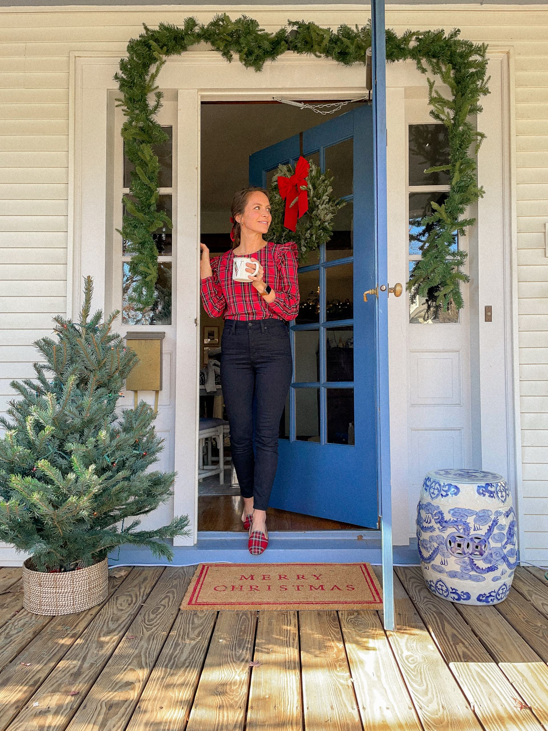 traditional christmas decorations for porch