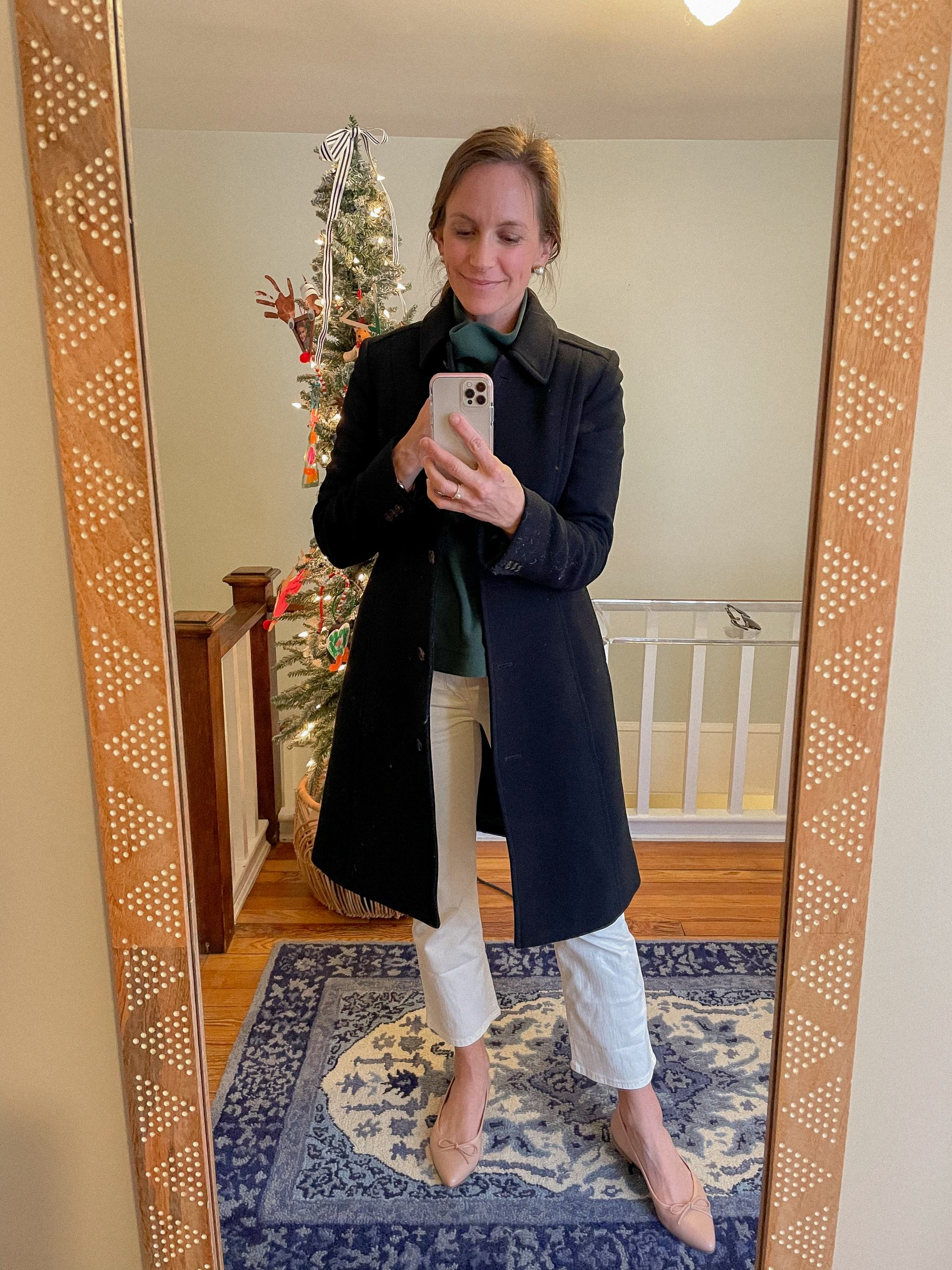 jcrew lady coat with pants