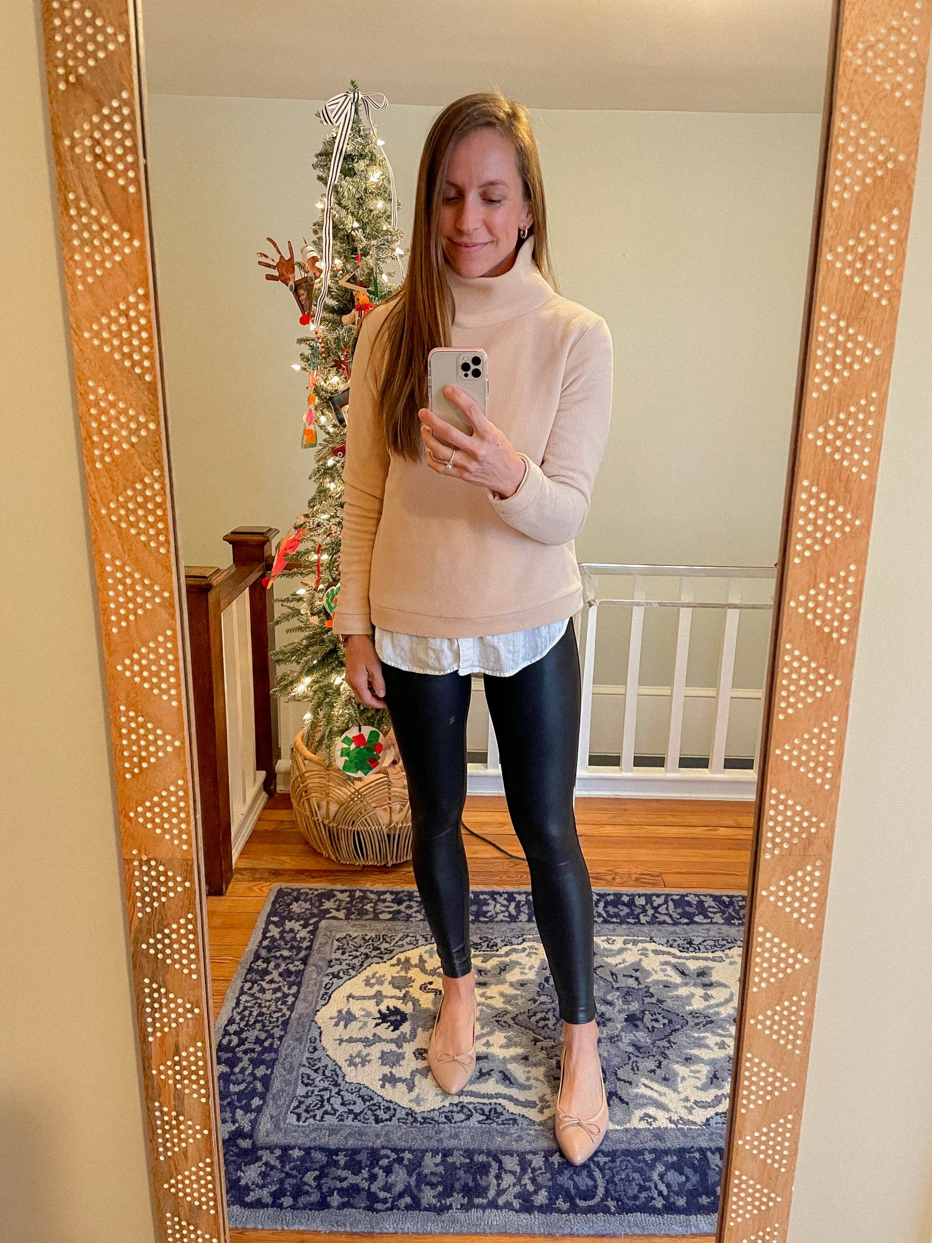 how to make spanx faux leather leggings look classic