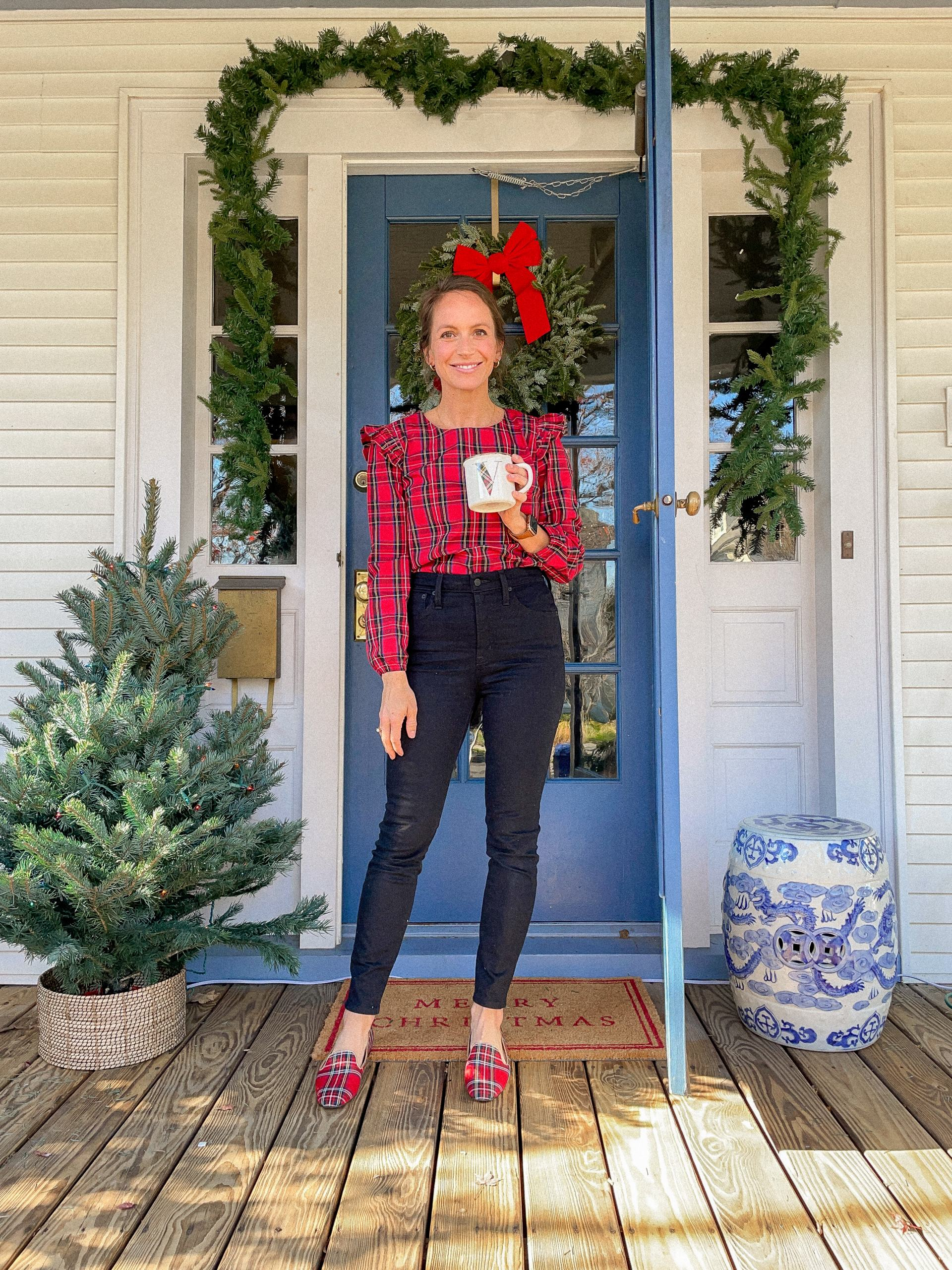 plaid christmas outfit