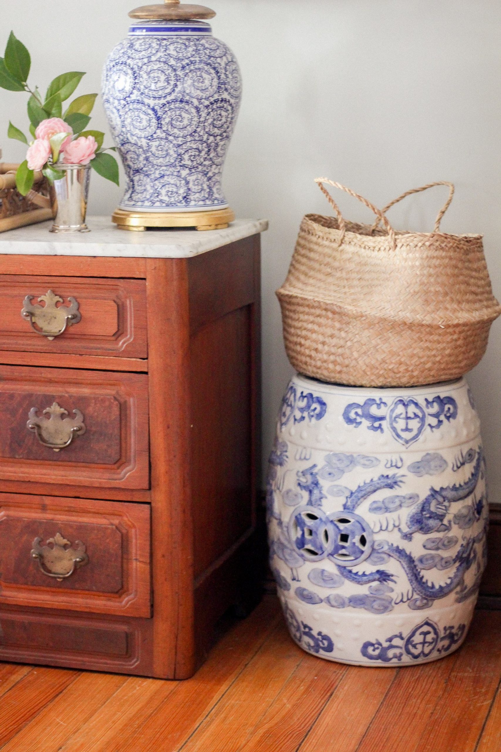 chinoiserie garden stool