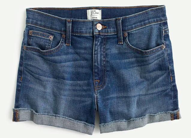 j.crew merrill denim shorts