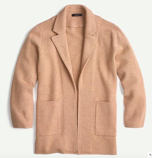 j.crew sophie sweater blazer