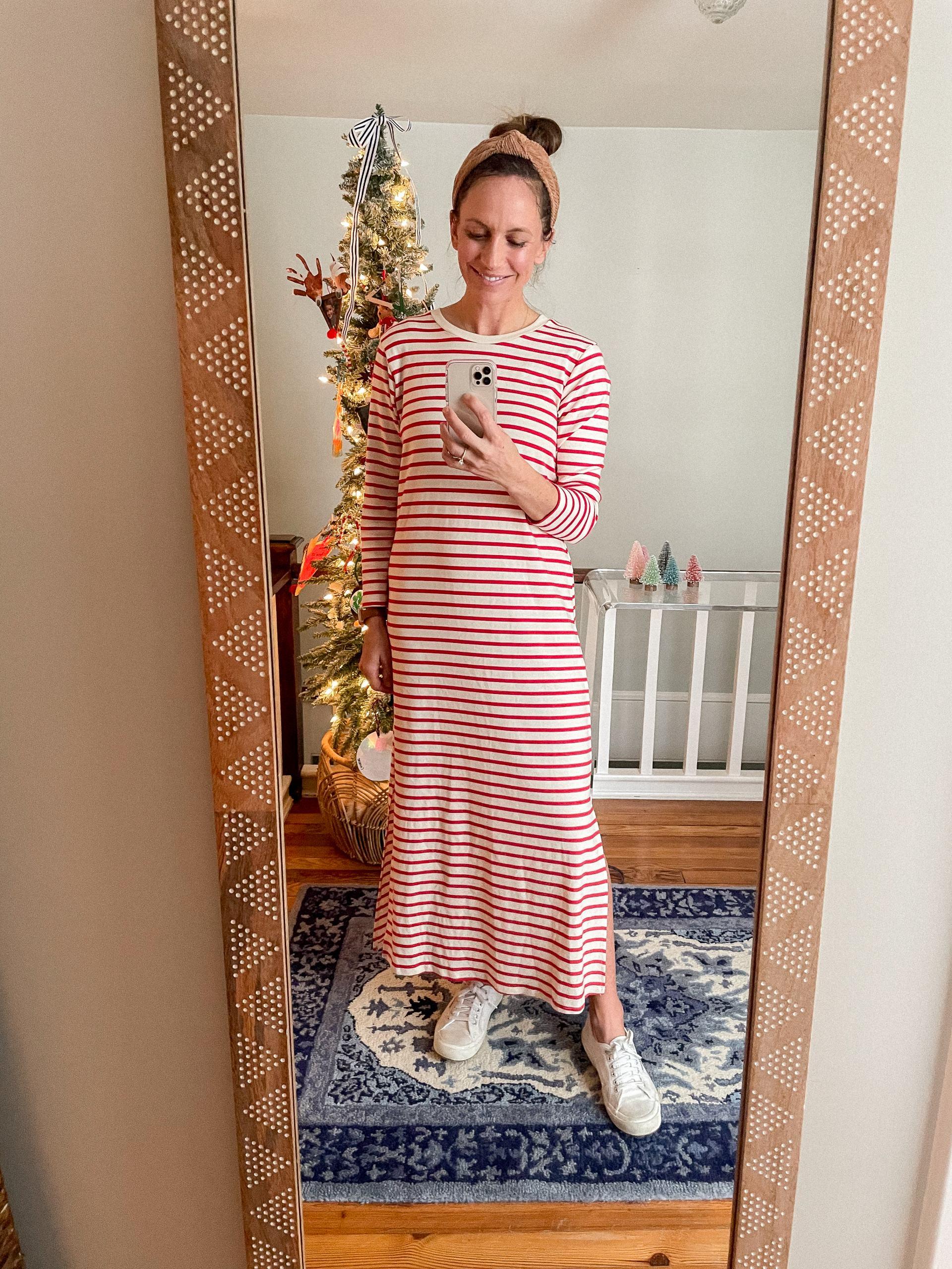 striped maxi dress from tuckernuck