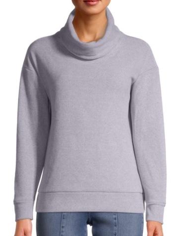 time and tru fleece sweatshirt