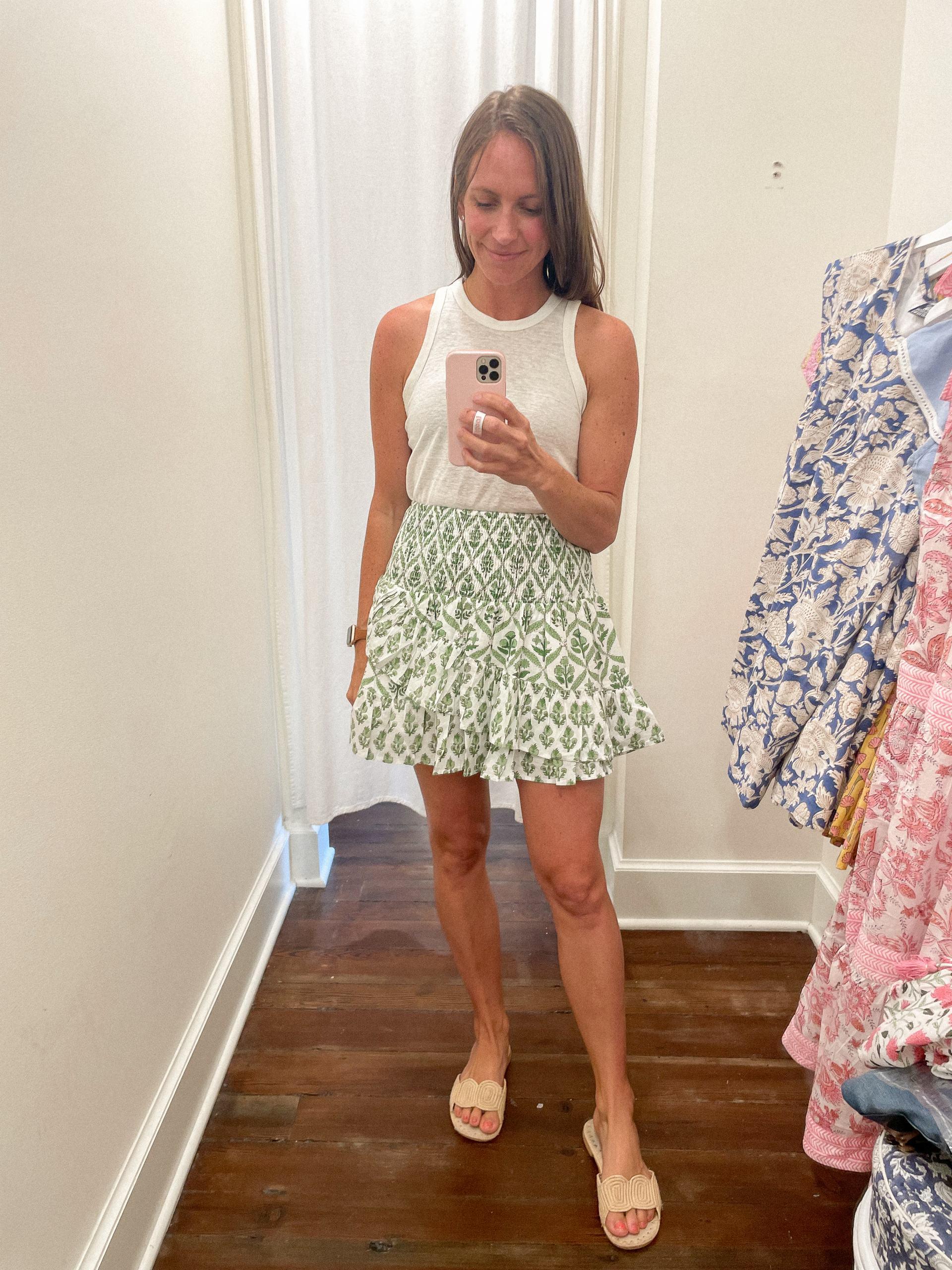 Amelia Skirt - Madison Mathews - Madison Mathews discount code - madison mathews sizing - block print dress